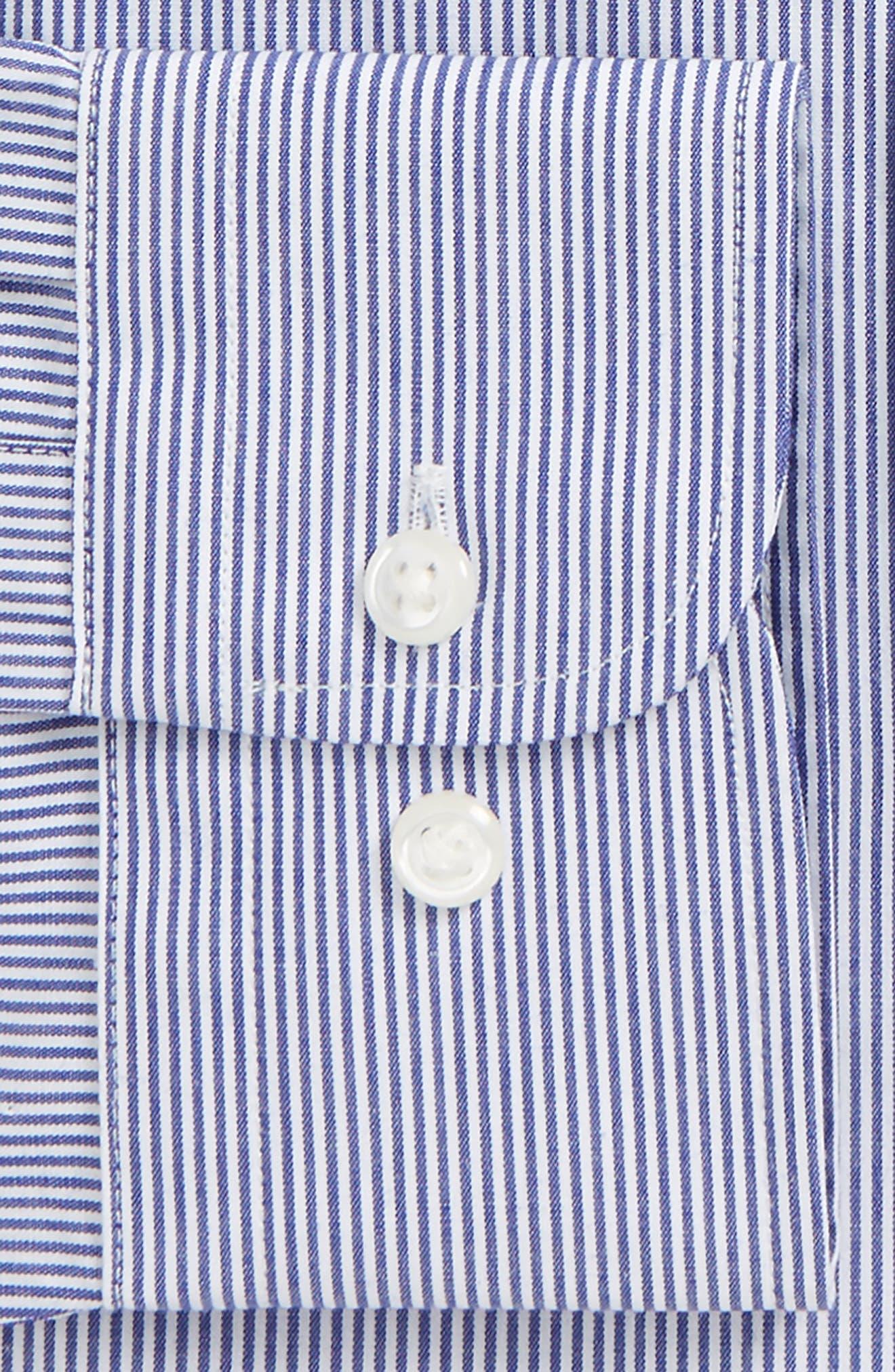 Smartcare<sup>™</sup> Traditional Fit Stripe Dress Shirt,                             Alternate thumbnail 17, color,