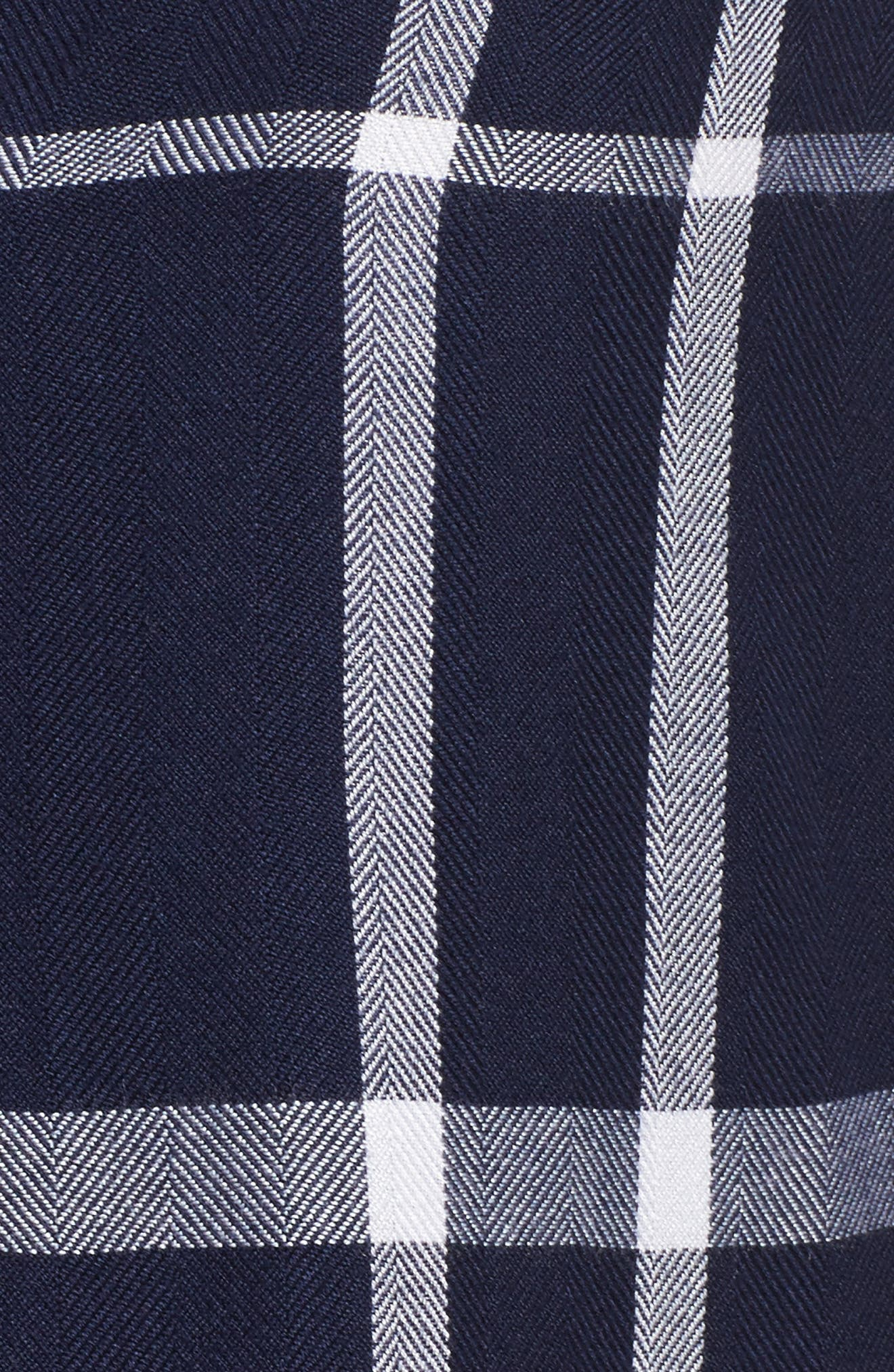 Plaid Pajamas,                             Alternate thumbnail 5, color,                             CADET/ WHITE