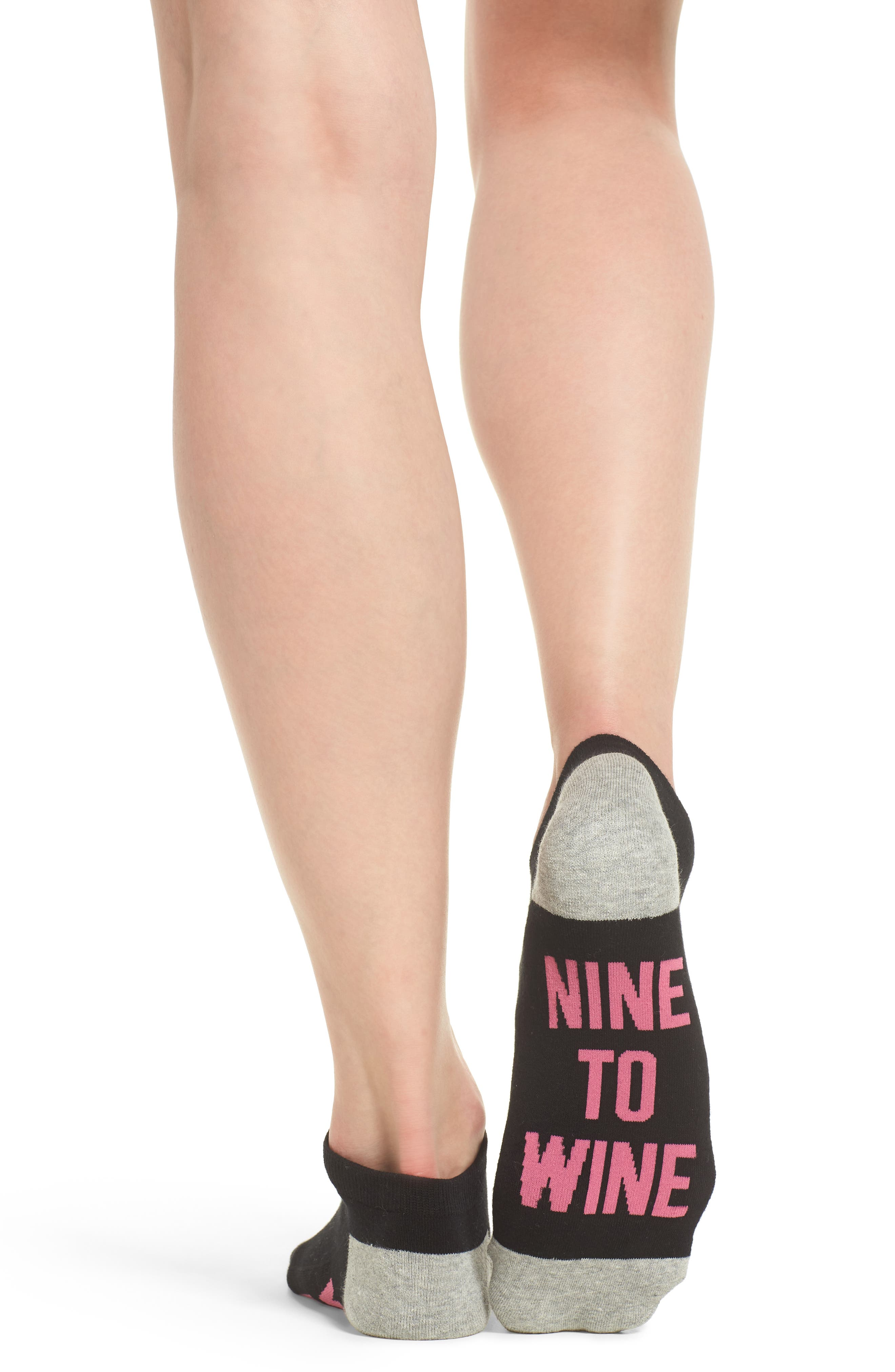 Nine to Wine Low-Cut Socks,                             Alternate thumbnail 3, color,                             001