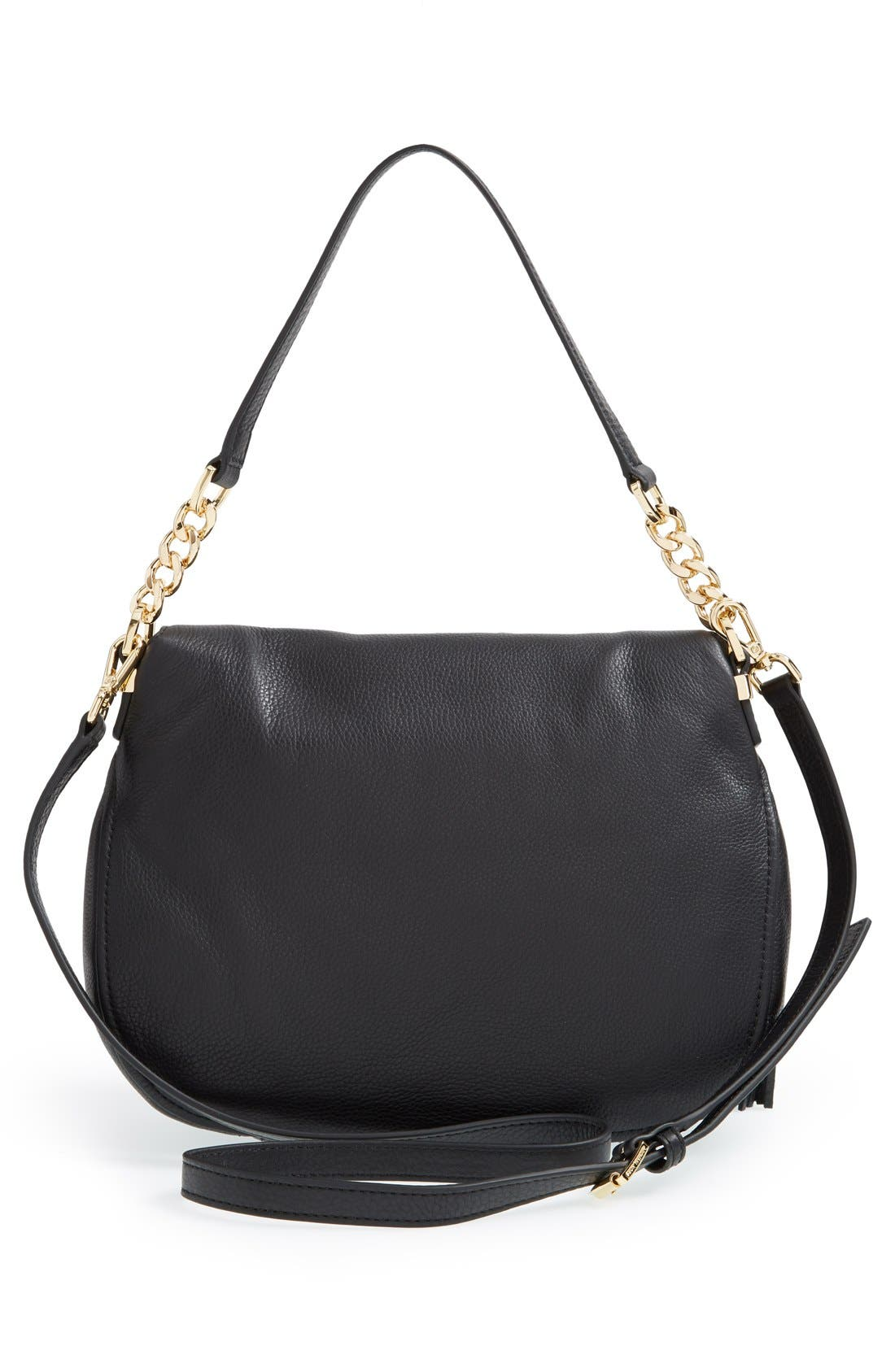 'Bedford Tassel - Medium' Convertible Leather Shoulder Bag,                             Alternate thumbnail 6, color,                             005