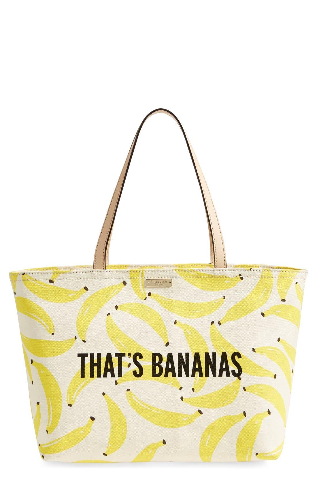 'that's bananas - francis' tote, Main, color, 700