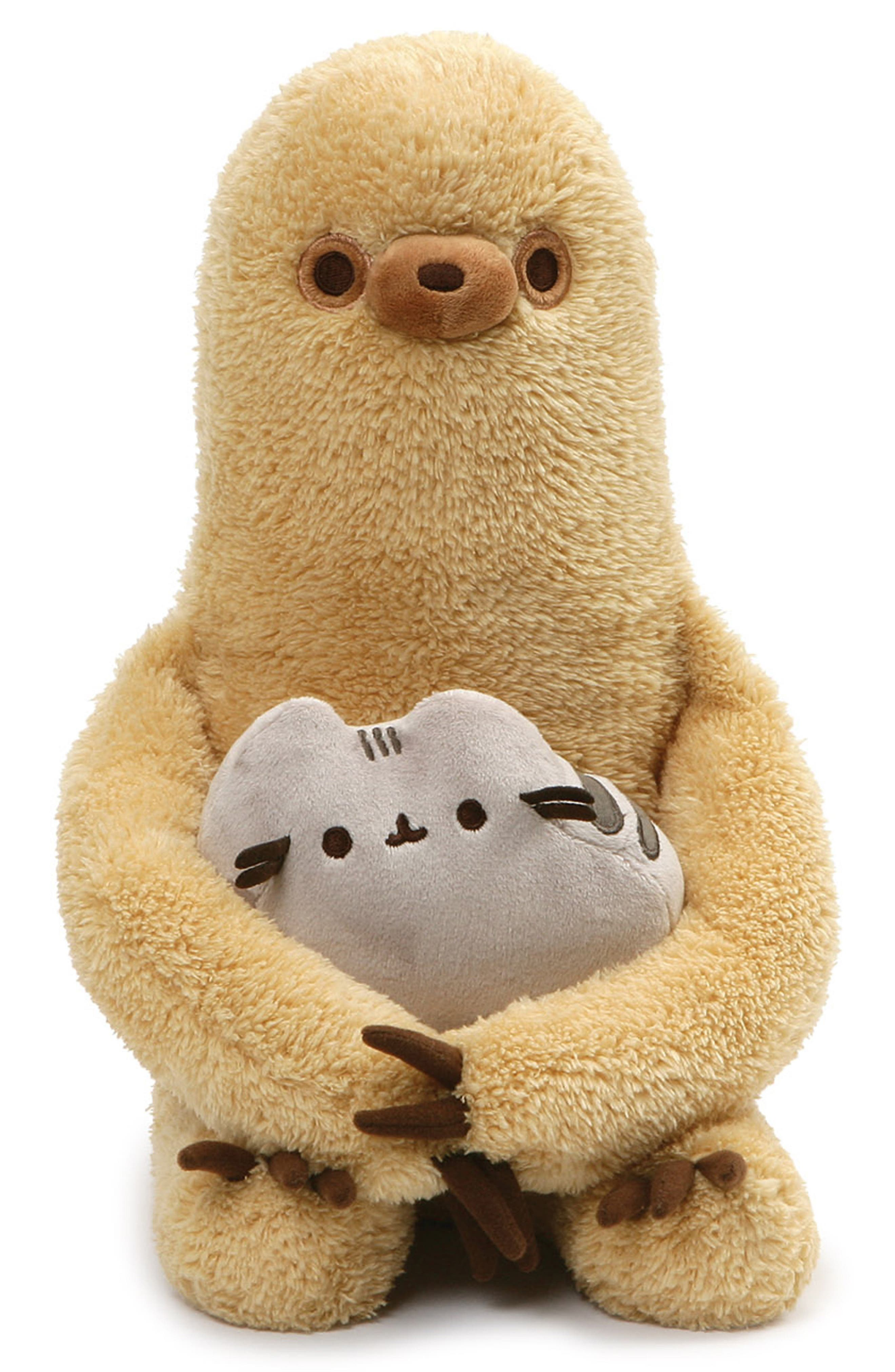 Sloth Holding Pusheen Stuffed Animals,                         Main,                         color, TAN