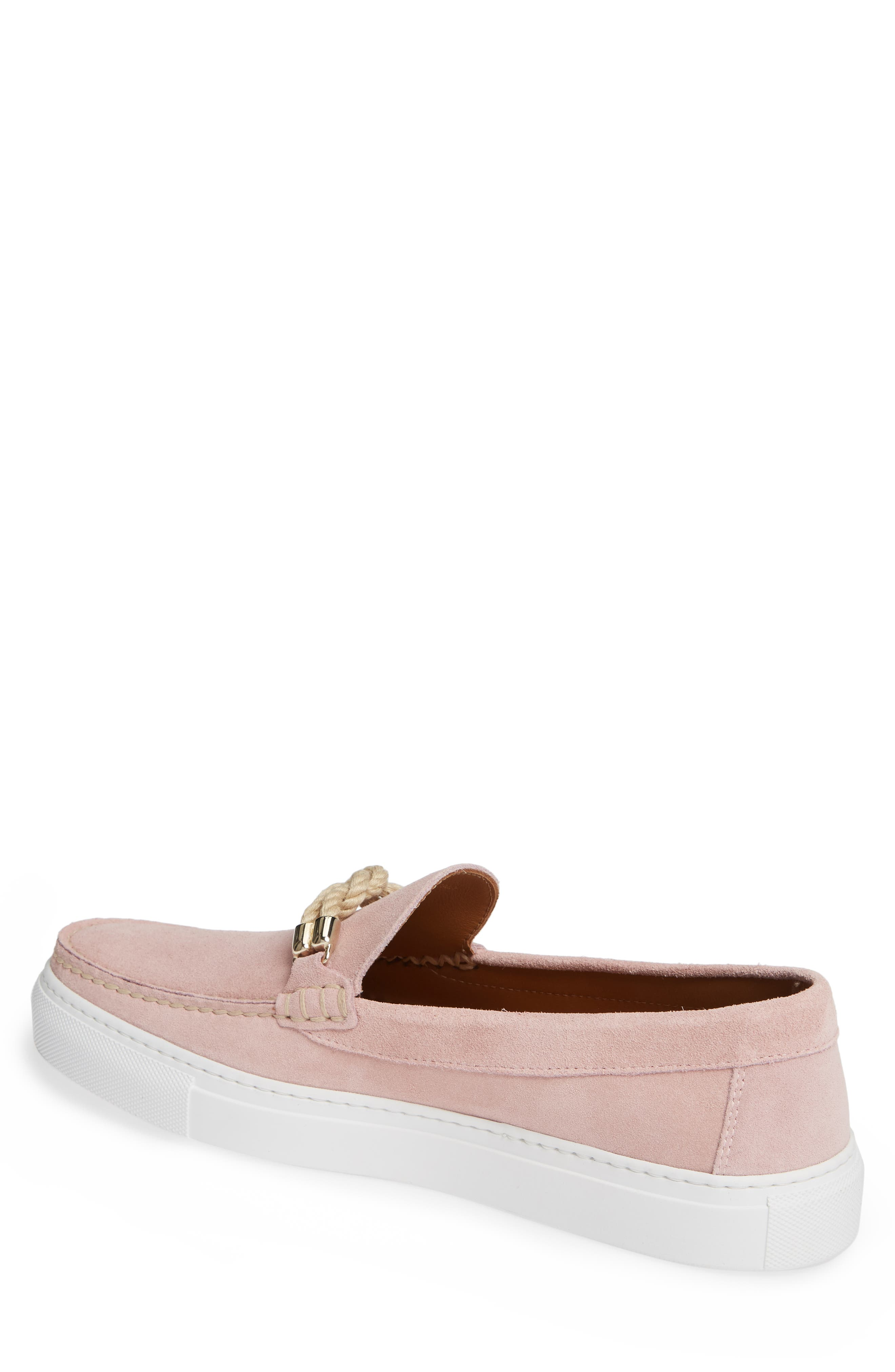 Britton Square Knot Loafer,                             Alternate thumbnail 2, color,                             ROSE SUEDE