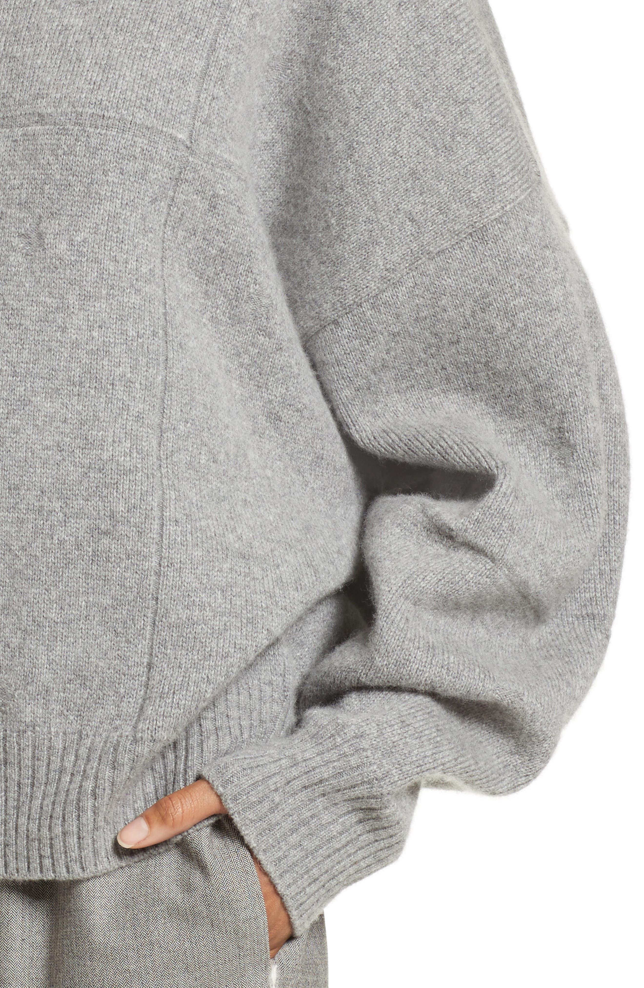 Concrete Wool Turtleneck Sweater,                             Alternate thumbnail 4, color,                             050