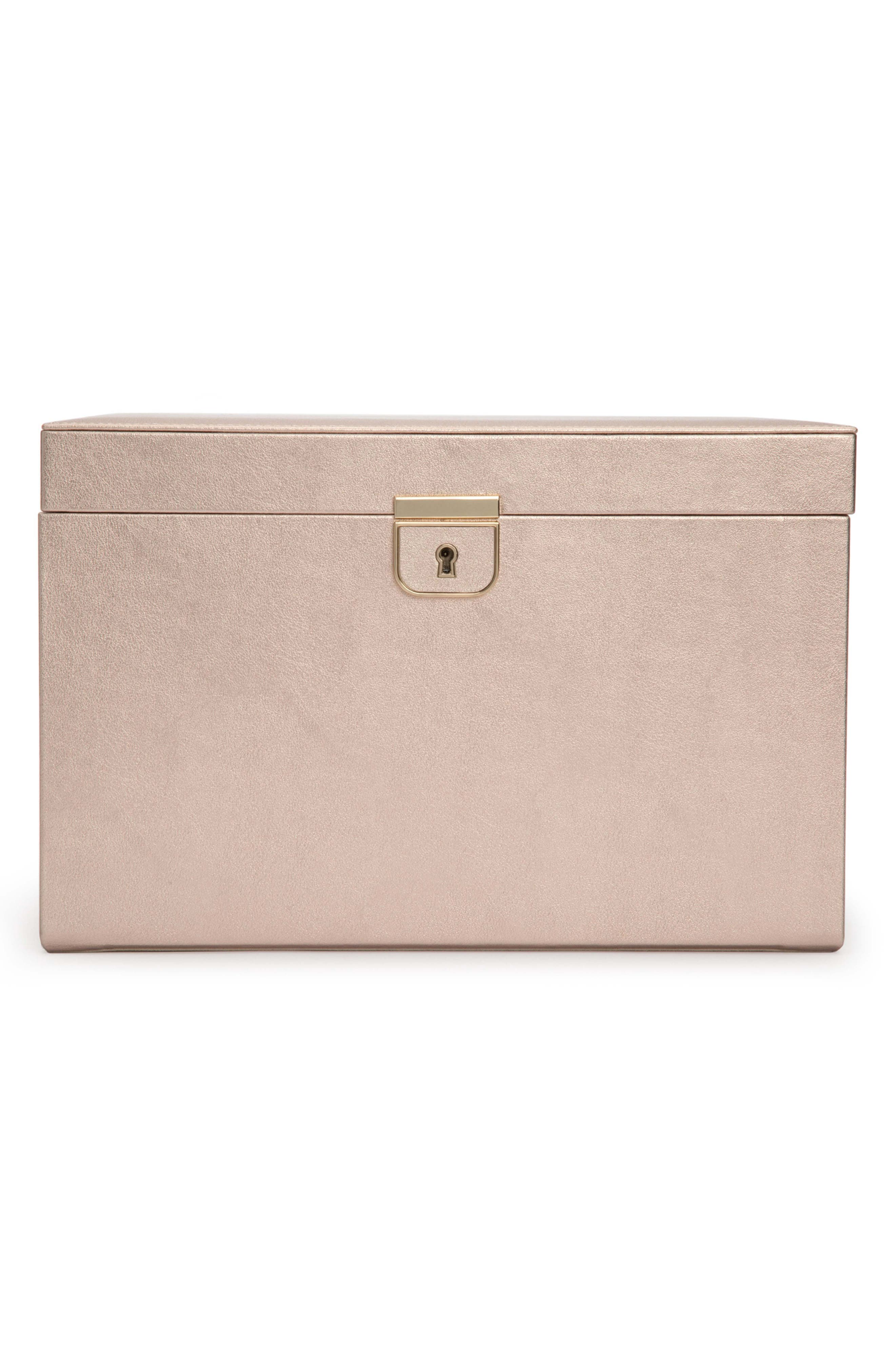 Palermo Large Jewelry Box,                             Main thumbnail 1, color,                             ROSE GOLD