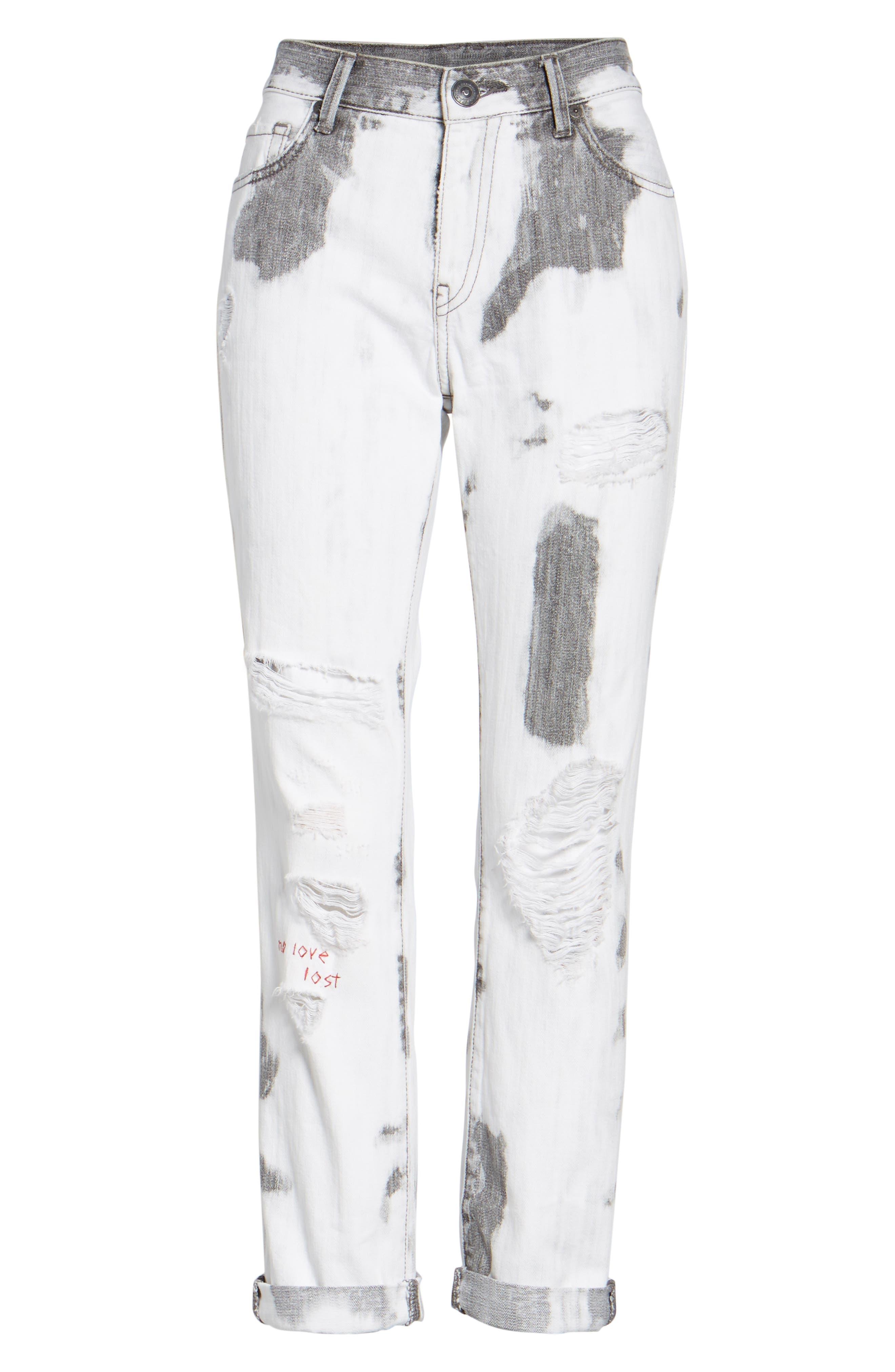 Cameron Boyfriend Jeans,                             Alternate thumbnail 6, color,                             101
