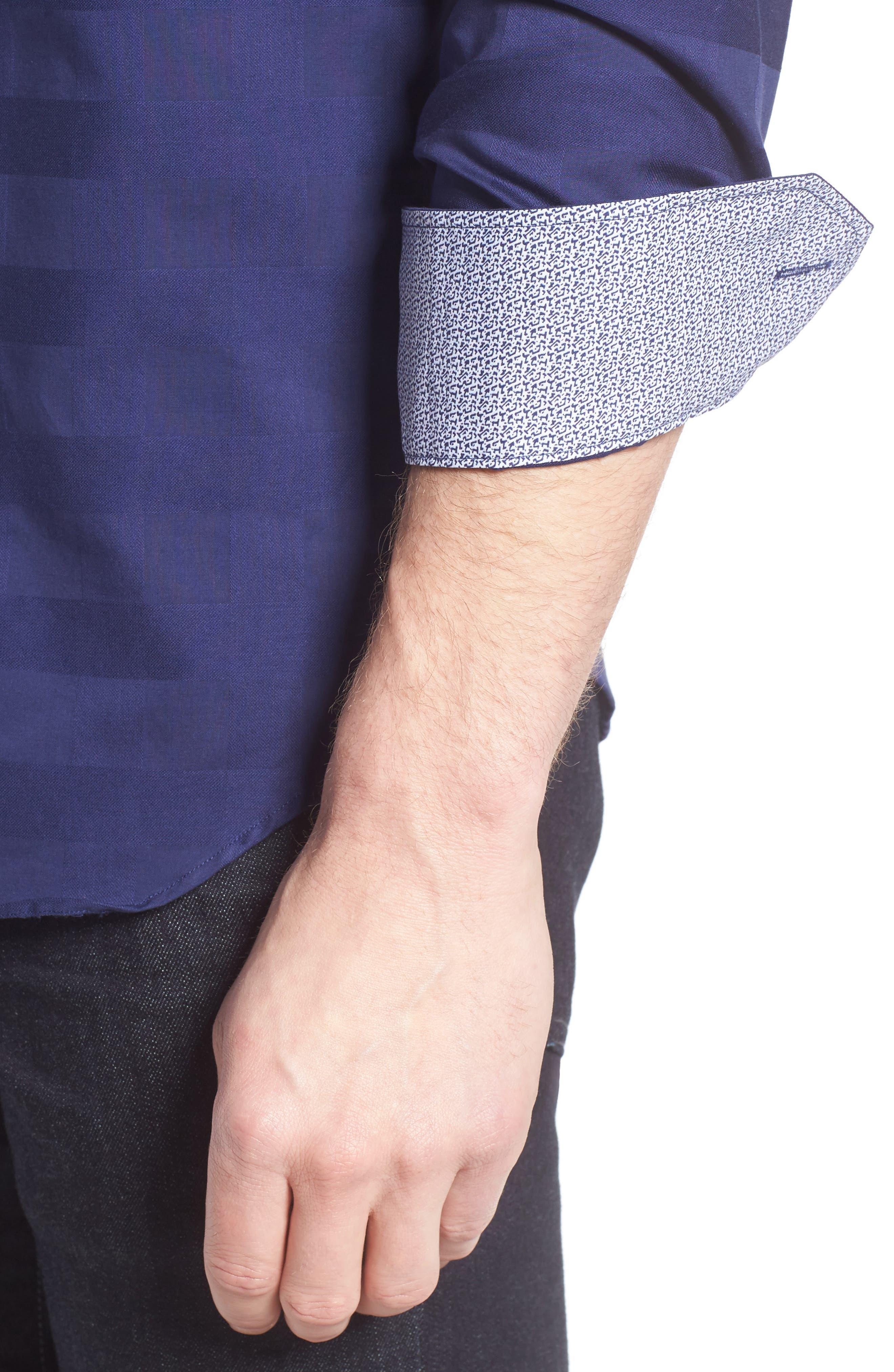 Shaped Fit Sport Shirt,                             Alternate thumbnail 12, color,