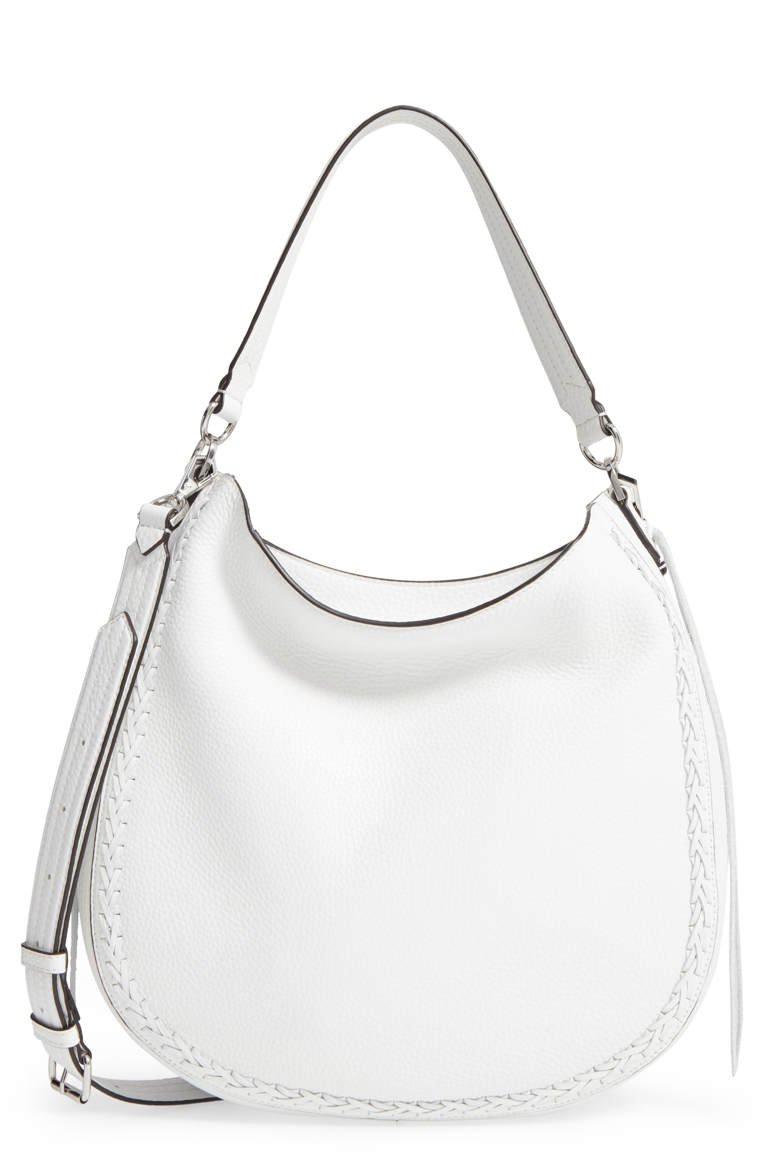 Unlined Convertible Whipstitch Hobo,                             Main thumbnail 3, color,