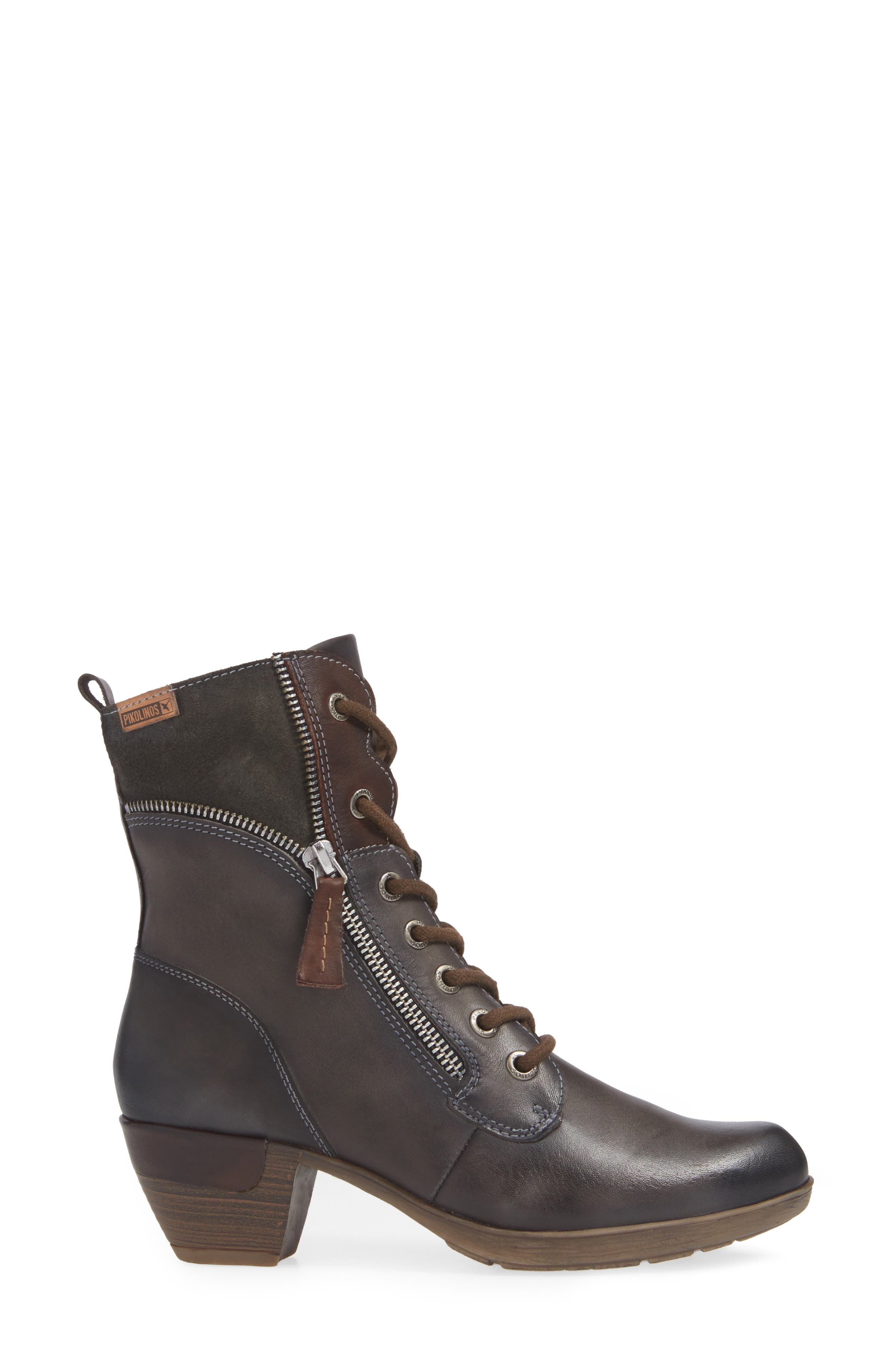 Rotterdam Bootie,                             Alternate thumbnail 3, color,                             LEAD LEATHER