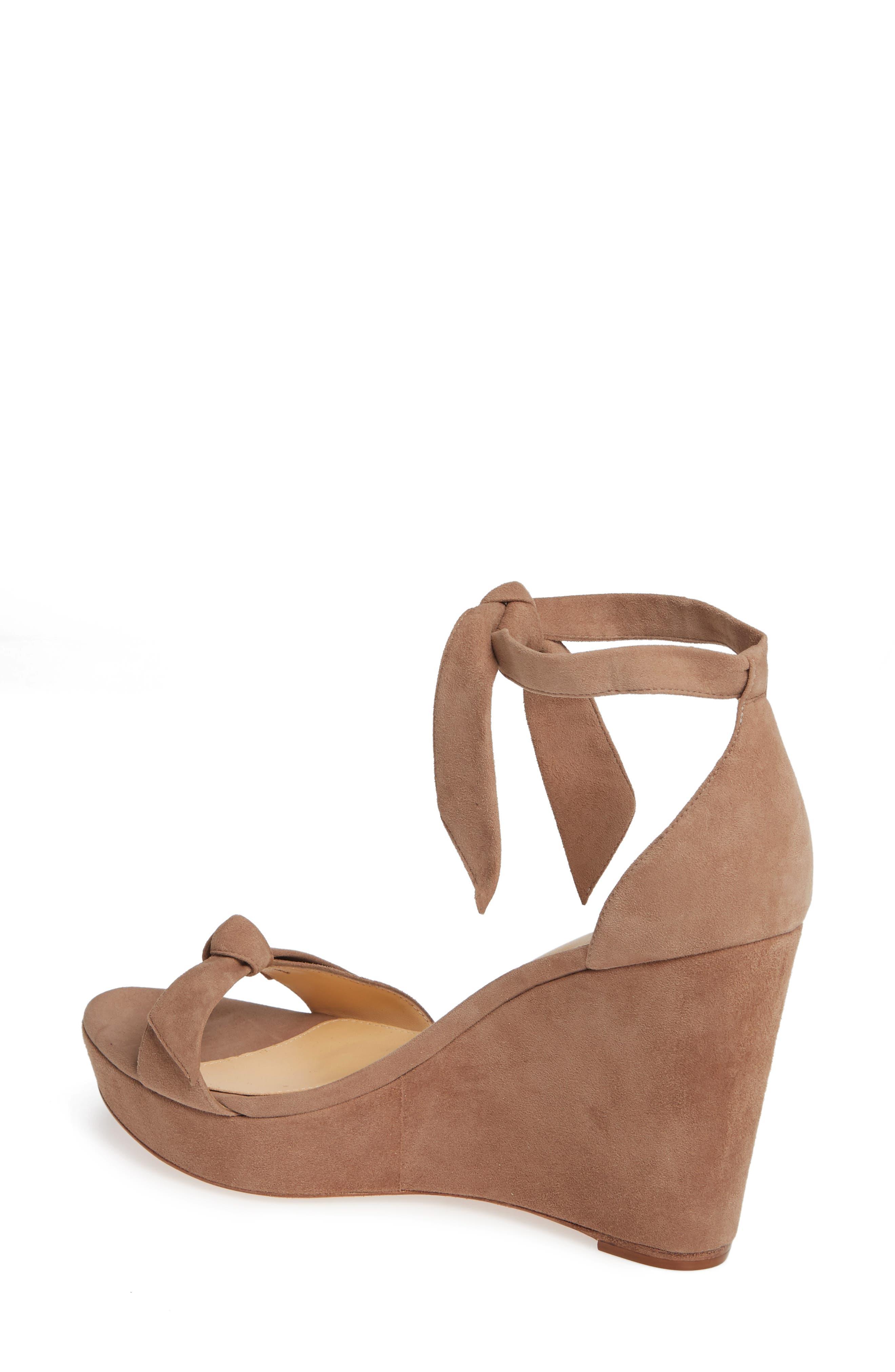Clarita Platform Wedge Sandal,                             Alternate thumbnail 2, color,                             CAMEO SUEDE