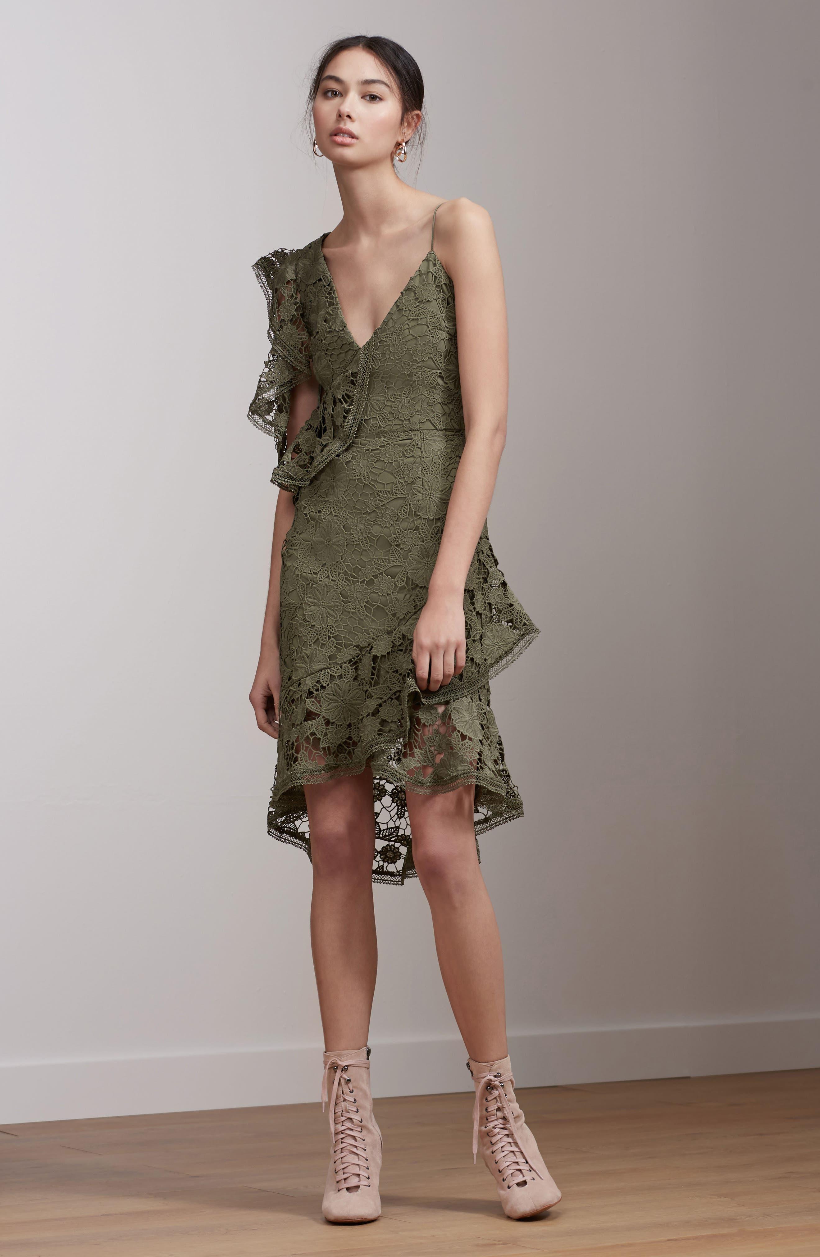 Frameless Lace Sheath Dress,                             Alternate thumbnail 7, color,                             300