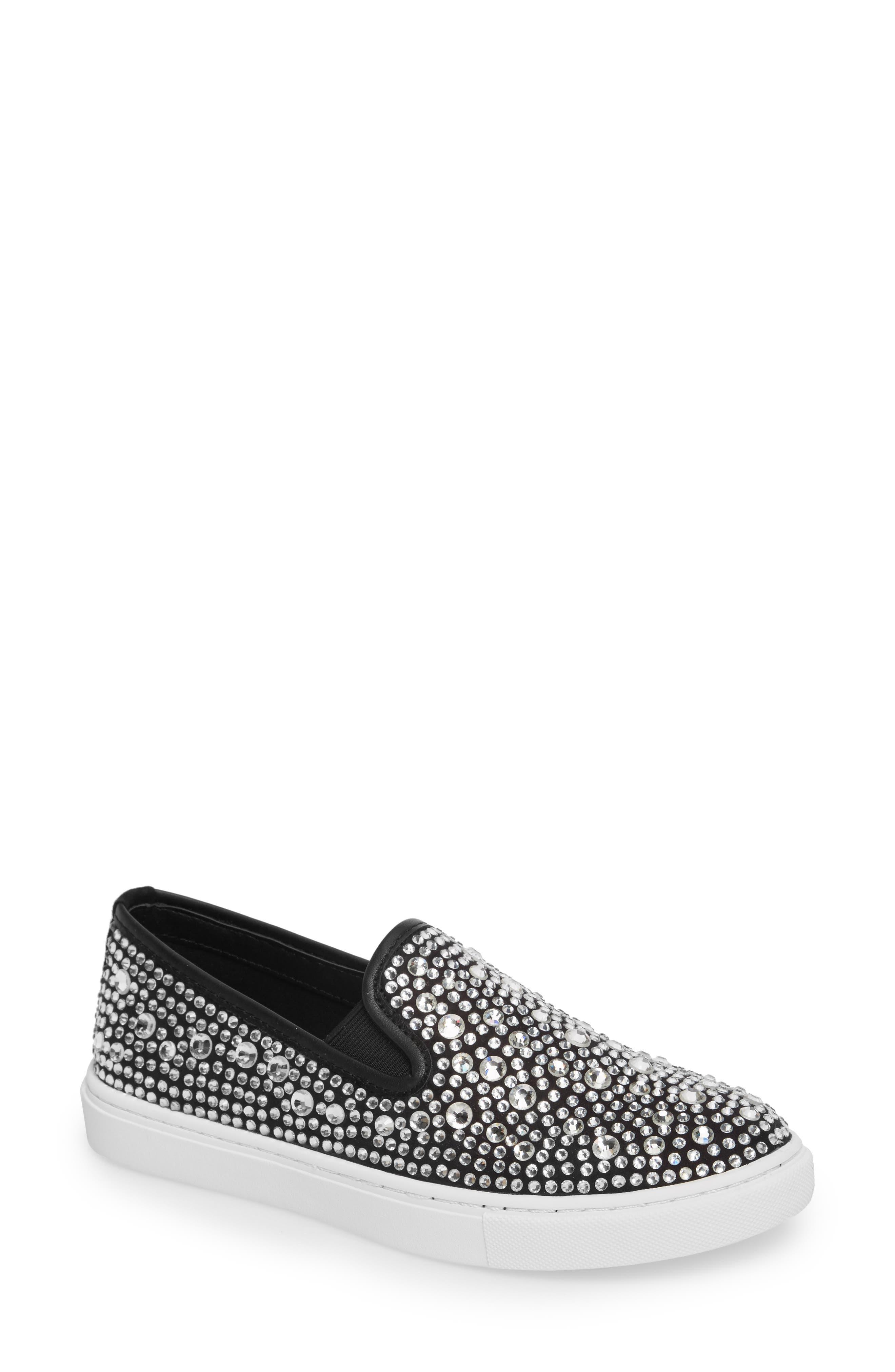 Evada Crystal Embellished Slip-On Sneaker,                             Main thumbnail 1, color,                             040