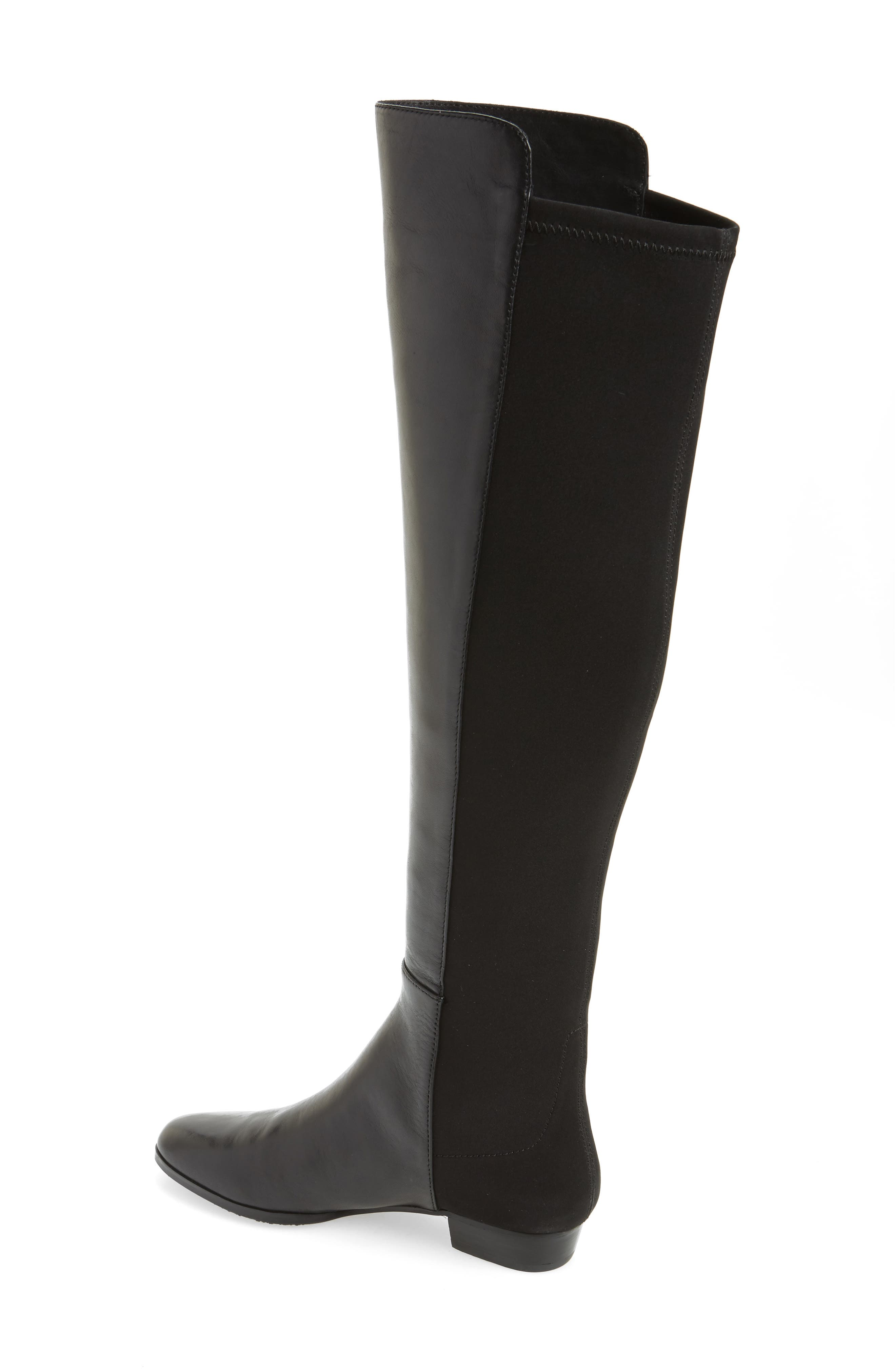 'Karita' Over the Knee Boot,                             Alternate thumbnail 2, color,                             BLACK/ BLACK