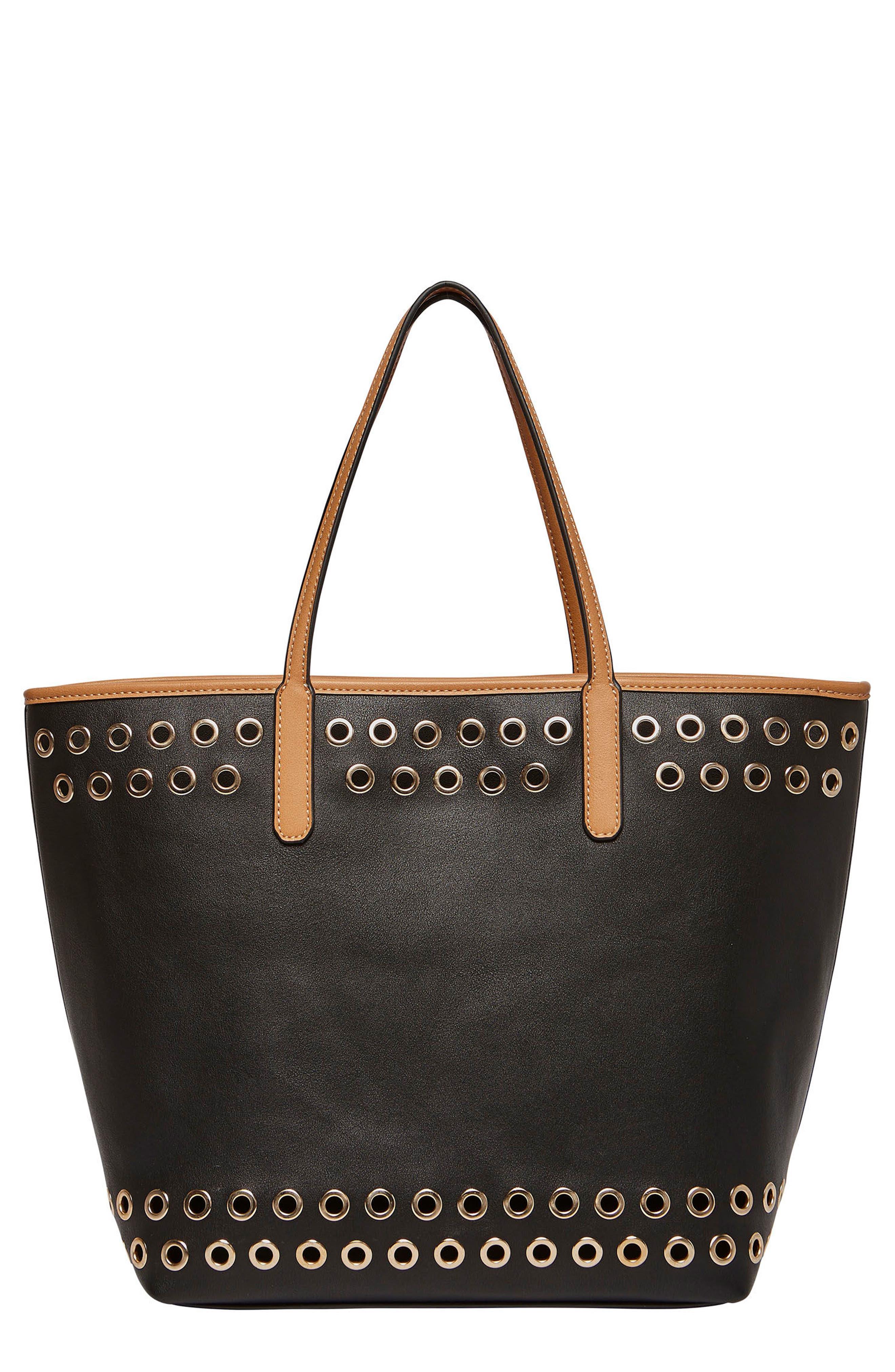 Wonderland Vegan Leather Tote & Shoulder Bag,                         Main,                         color, 001