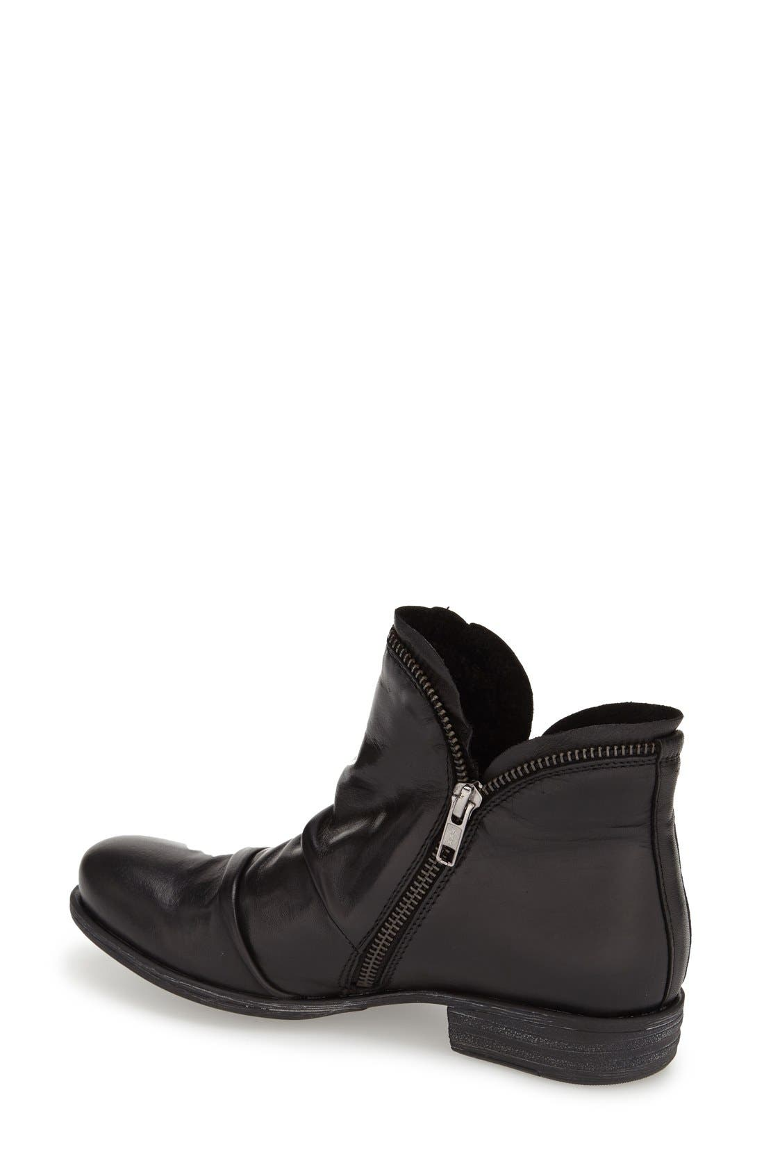 'Luna' Ankle Boot,                             Alternate thumbnail 2, color,                             BLACK