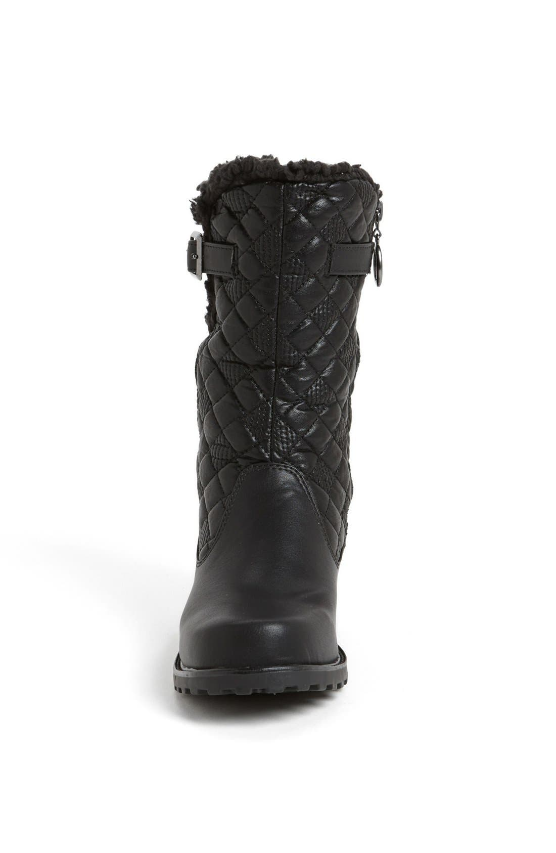 'Blizzard III' Boot,                             Alternate thumbnail 4, color,                             BLACK FAUX LEATHER