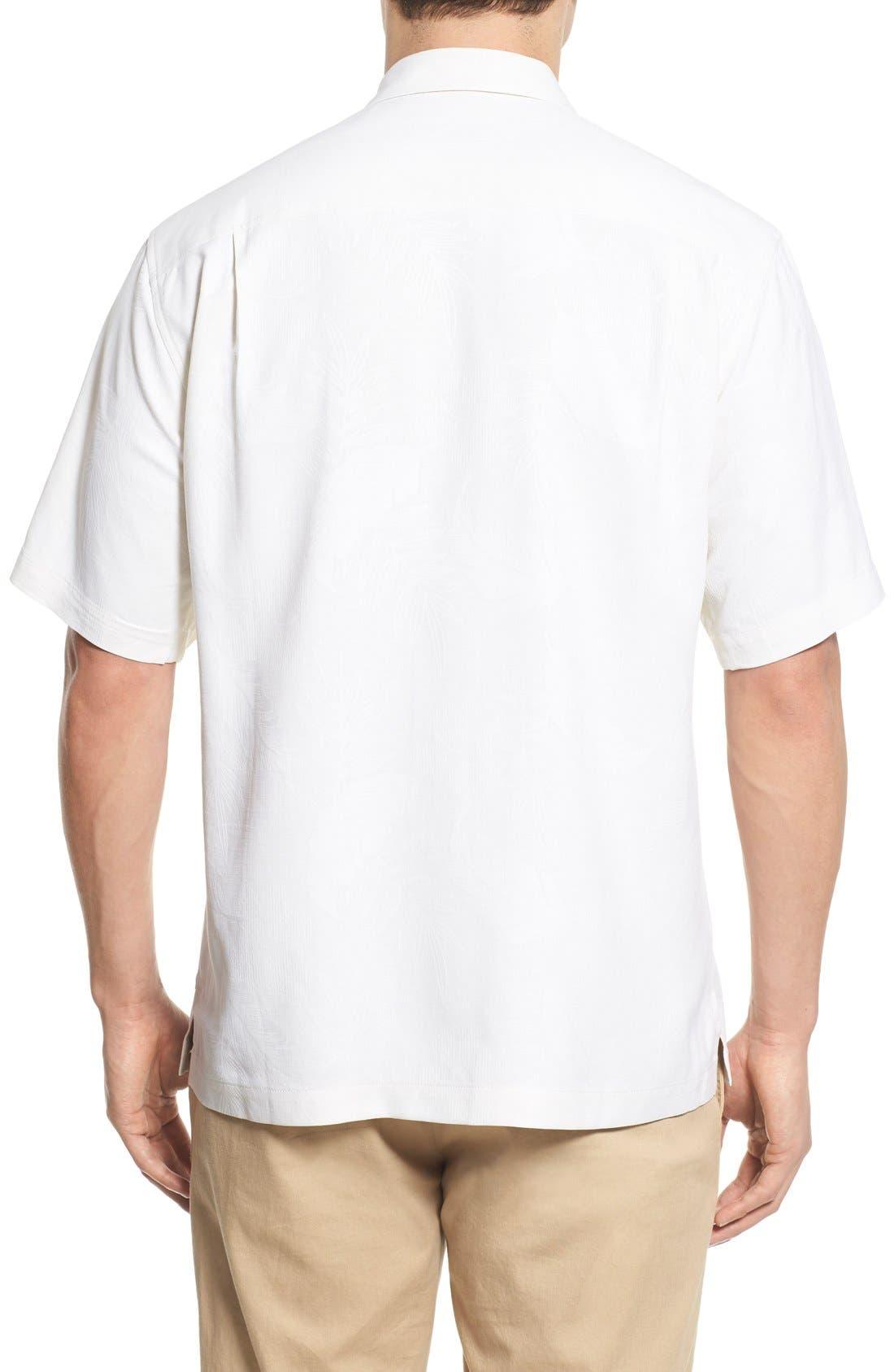 Rio Fronds Short Sleeve Silk Sport Shirt,                             Alternate thumbnail 21, color,