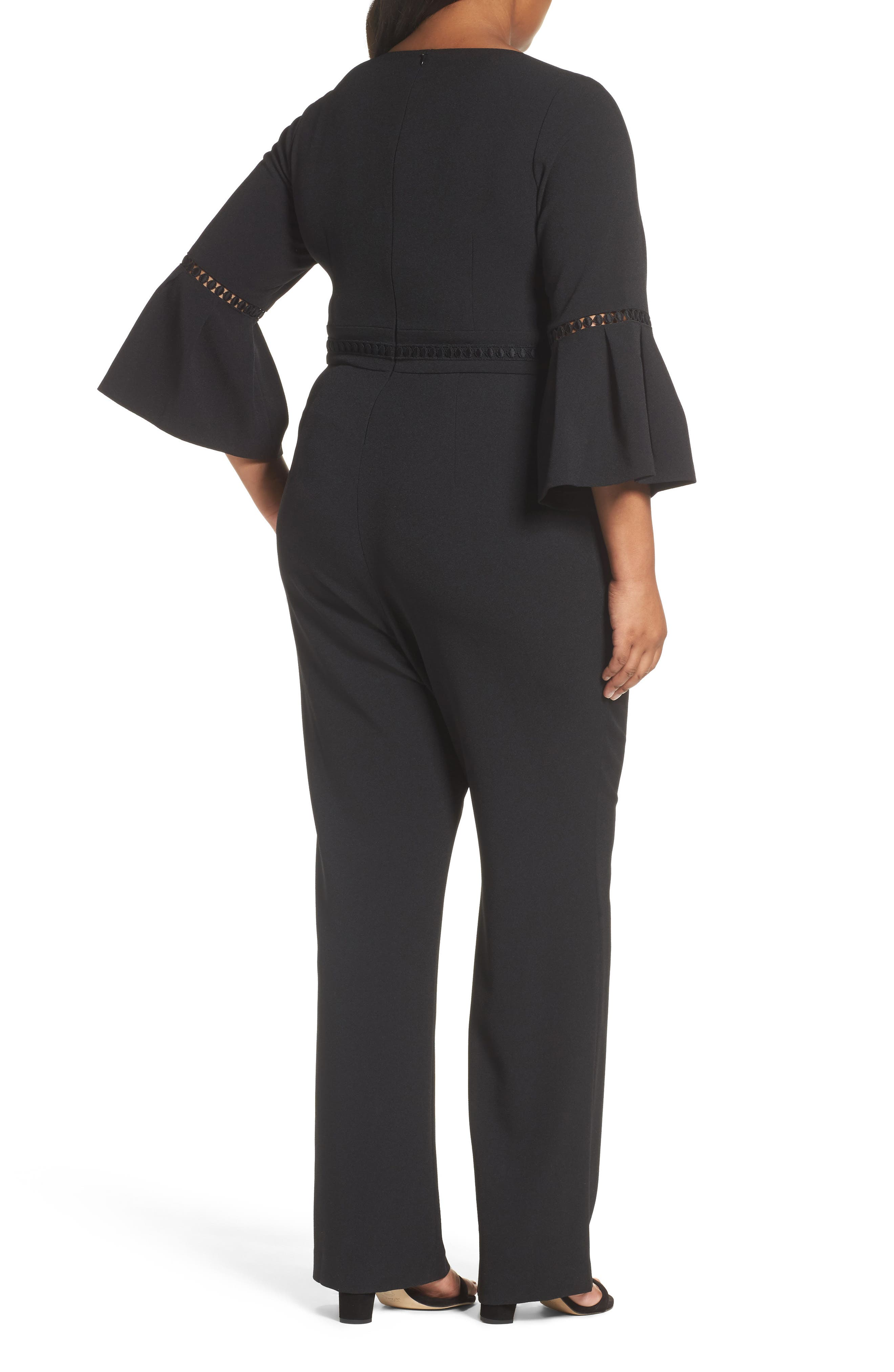 Bell Sleeve Jumpsuit,                             Alternate thumbnail 2, color,