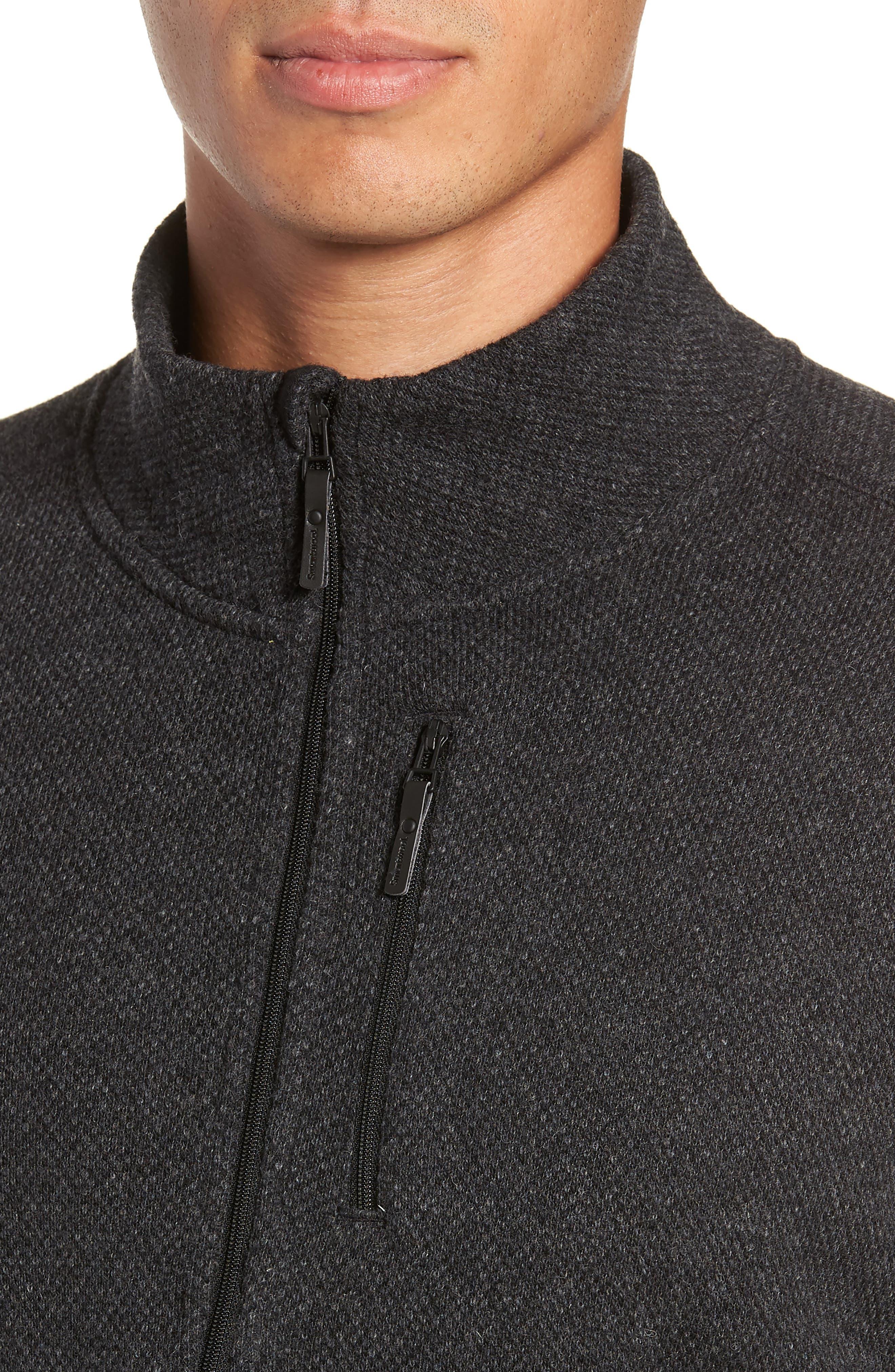 Hudson Trail Regular Fit Fleece Half-Zip Sweater,                             Alternate thumbnail 4, color,                             020
