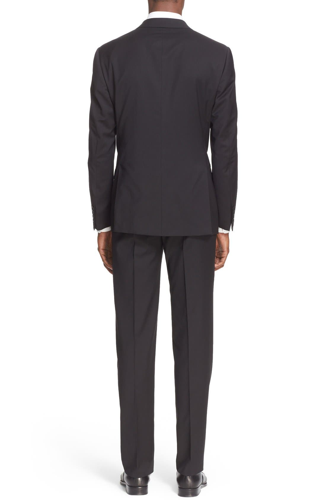 G-Line Trim Fit Solid Wool Suit,                             Alternate thumbnail 8, color,                             001