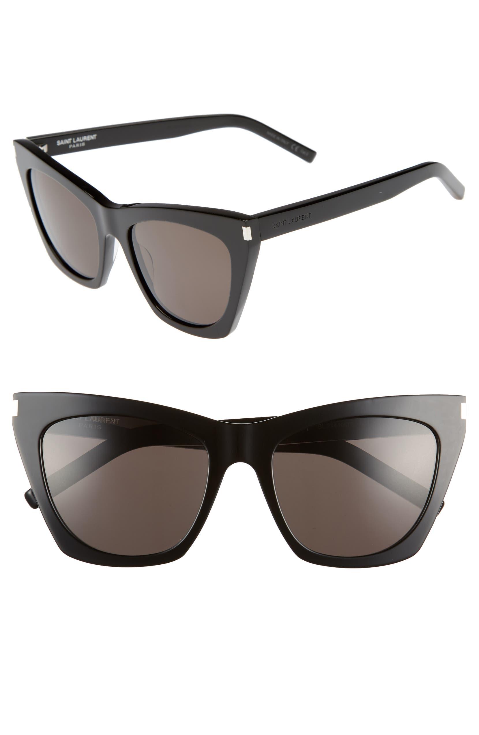 c8d546f18e Saint Laurent Kate 55mm Cat Eye Sunglasses