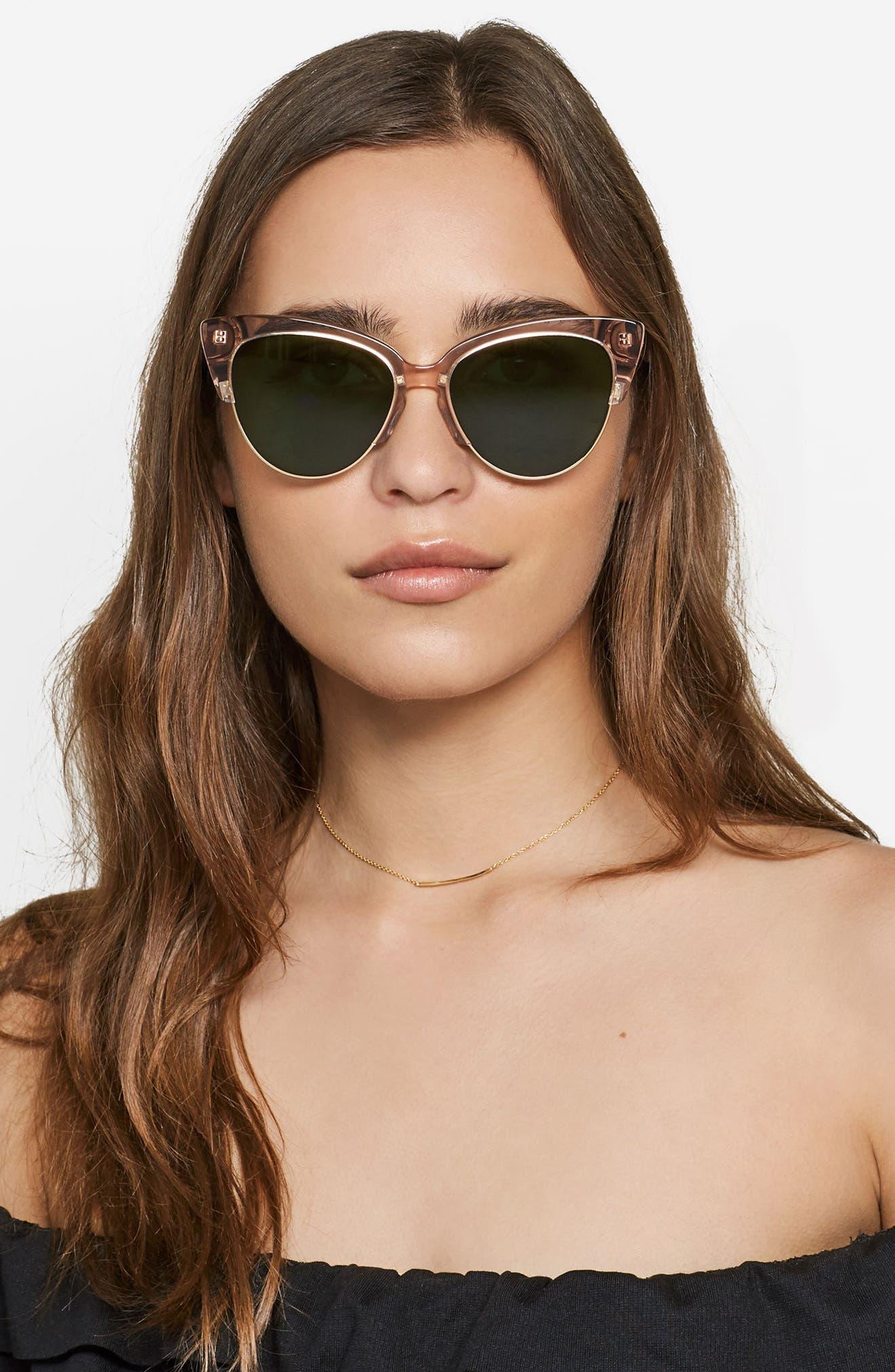Dafni 56mm Gradient Cat Eye Sunglasses,                             Alternate thumbnail 18, color,
