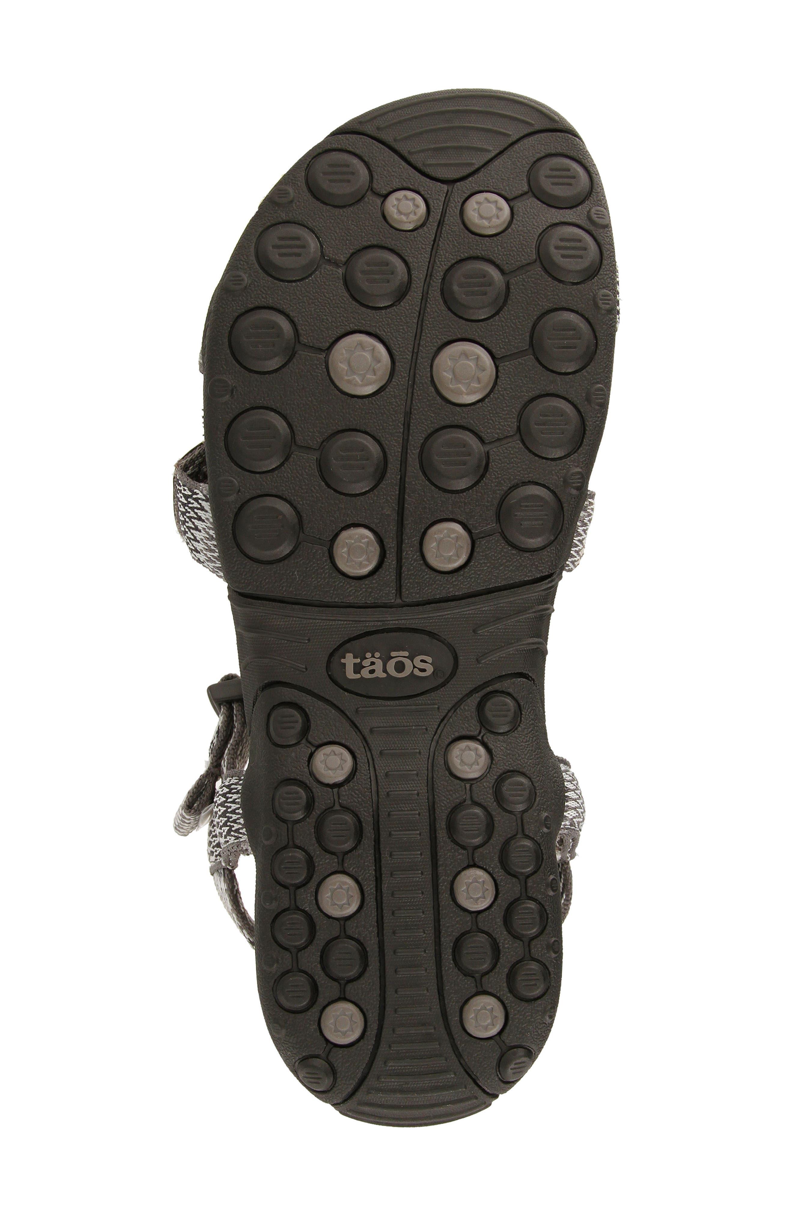 New Wave Sandal,                             Alternate thumbnail 4, color,                             BLACK FABRIC