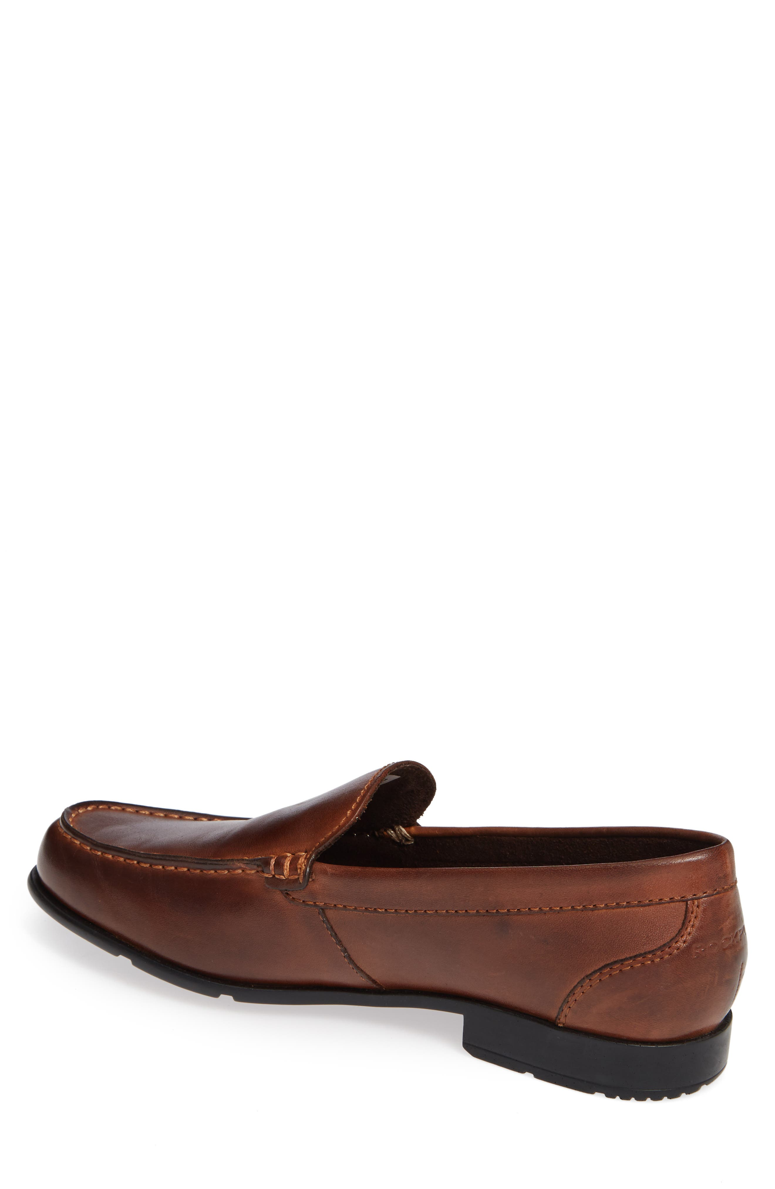 Classic Venetian Loafer,                             Alternate thumbnail 2, color,                             DARK BROWN LEATHER
