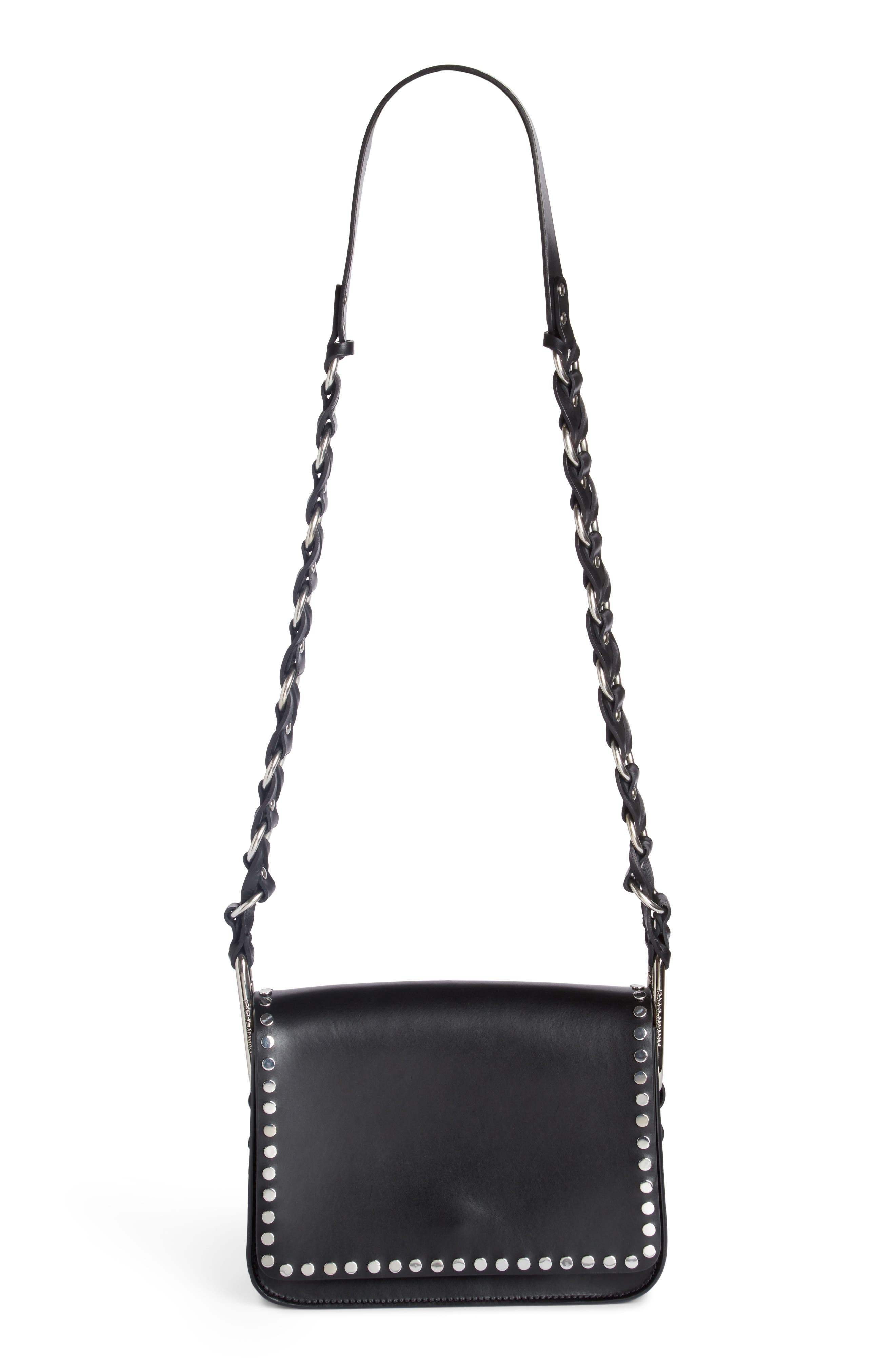 Calibar Studded Crossbody Bag,                             Main thumbnail 1, color,                             001