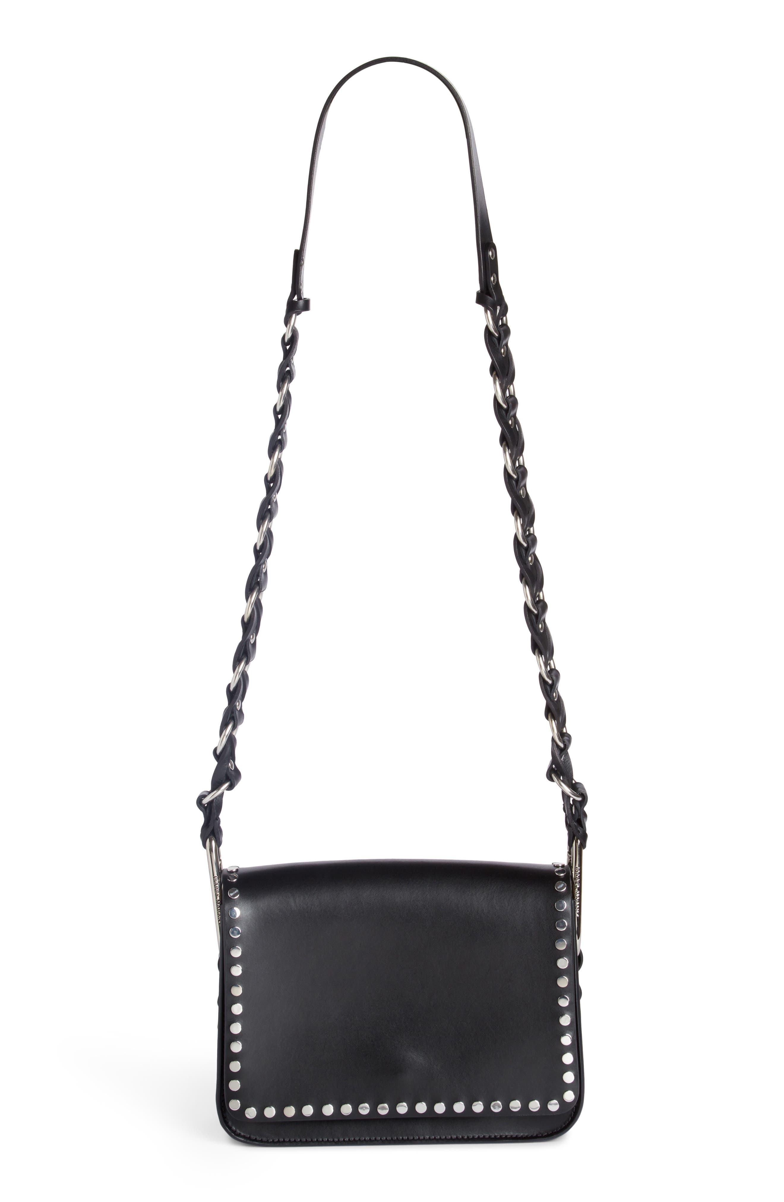 Calibar Studded Crossbody Bag,                         Main,                         color, 001