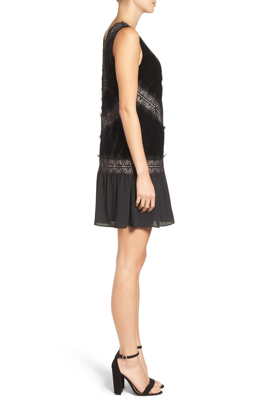 Velvet & Lace Dress,                             Alternate thumbnail 4, color,