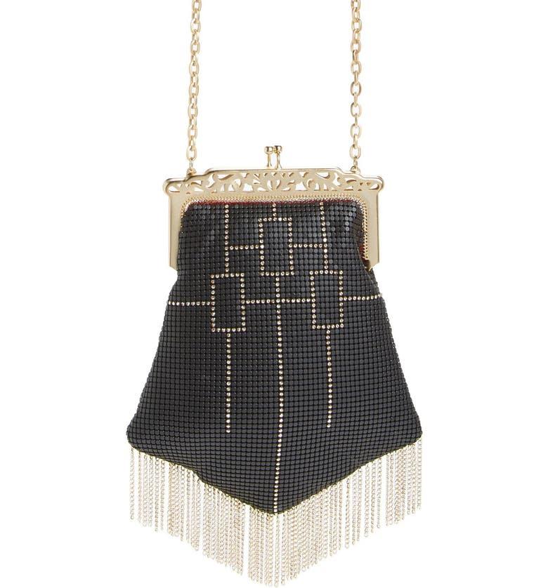 9dba0d5268 Whiting   Davis  Heritage Chandelier  Mesh Crossbody Bag