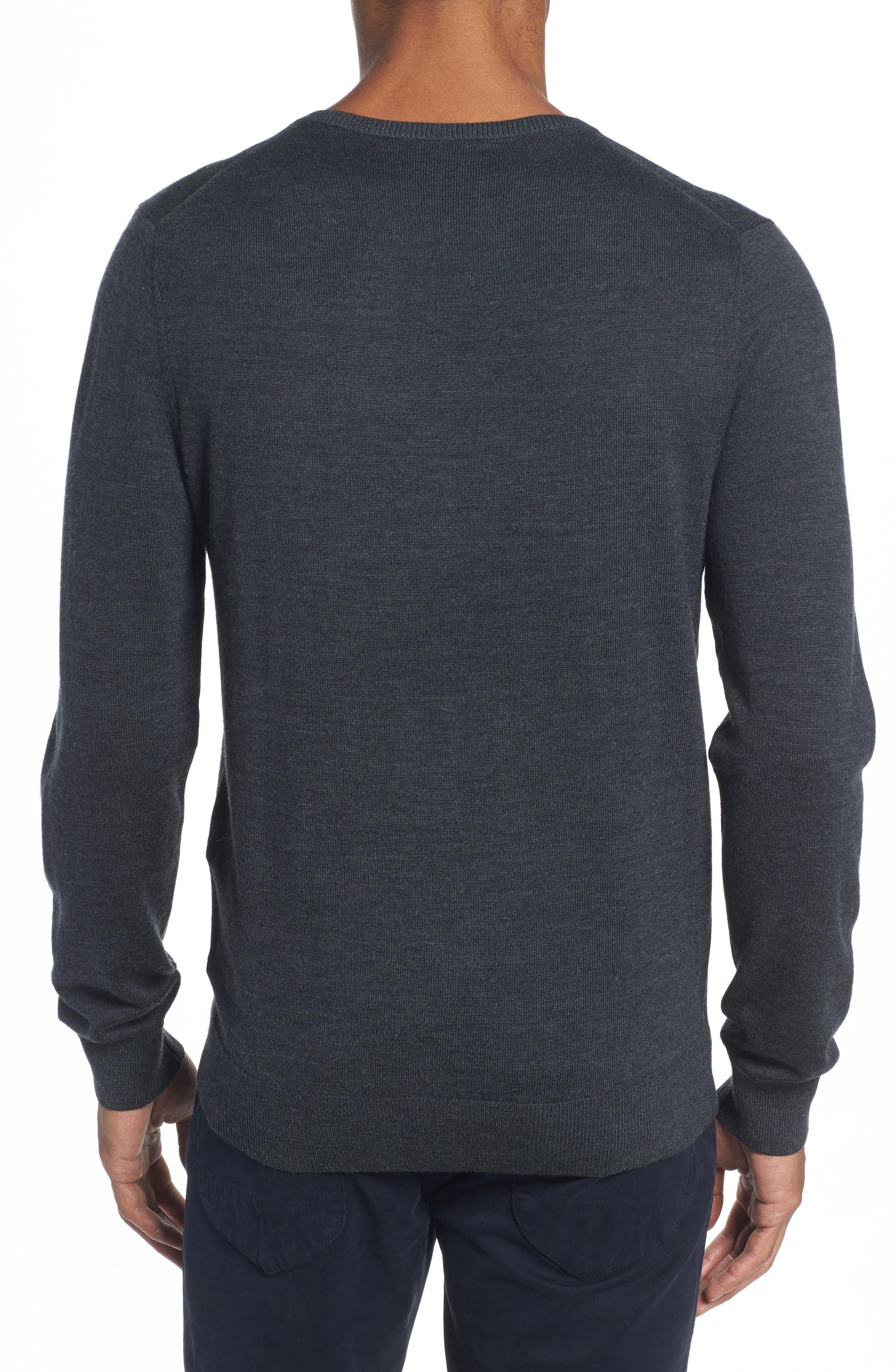 Merino V-Neck Sweater,                             Alternate thumbnail 2, color,                             020