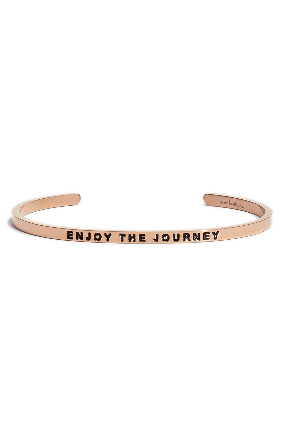 'Enjoy the Journey' Cuff,                             Main thumbnail 1, color,                             ROSE GOLD