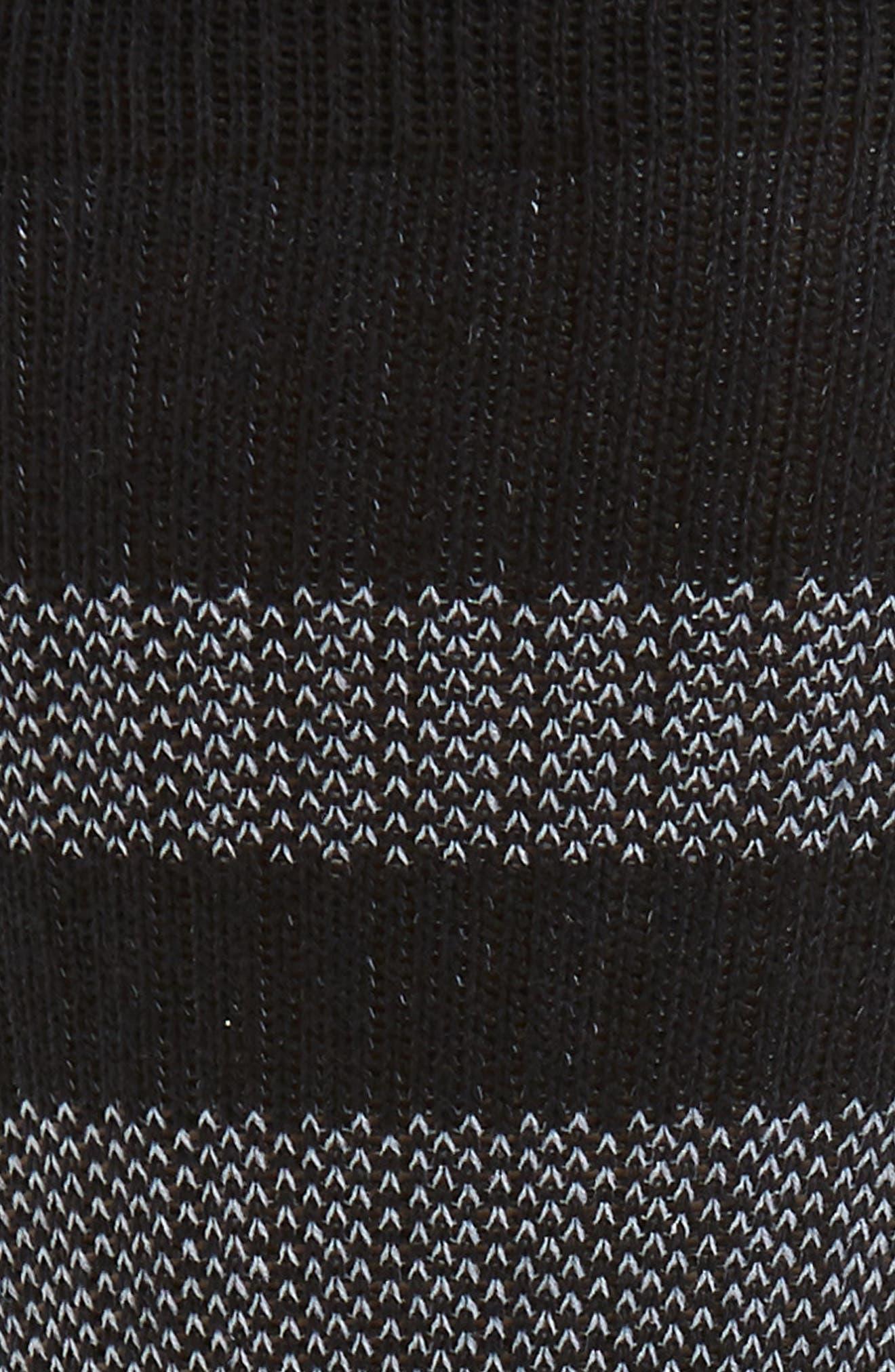 STANCE,                             Reda Stripe Socks,                             Alternate thumbnail 2, color,                             001