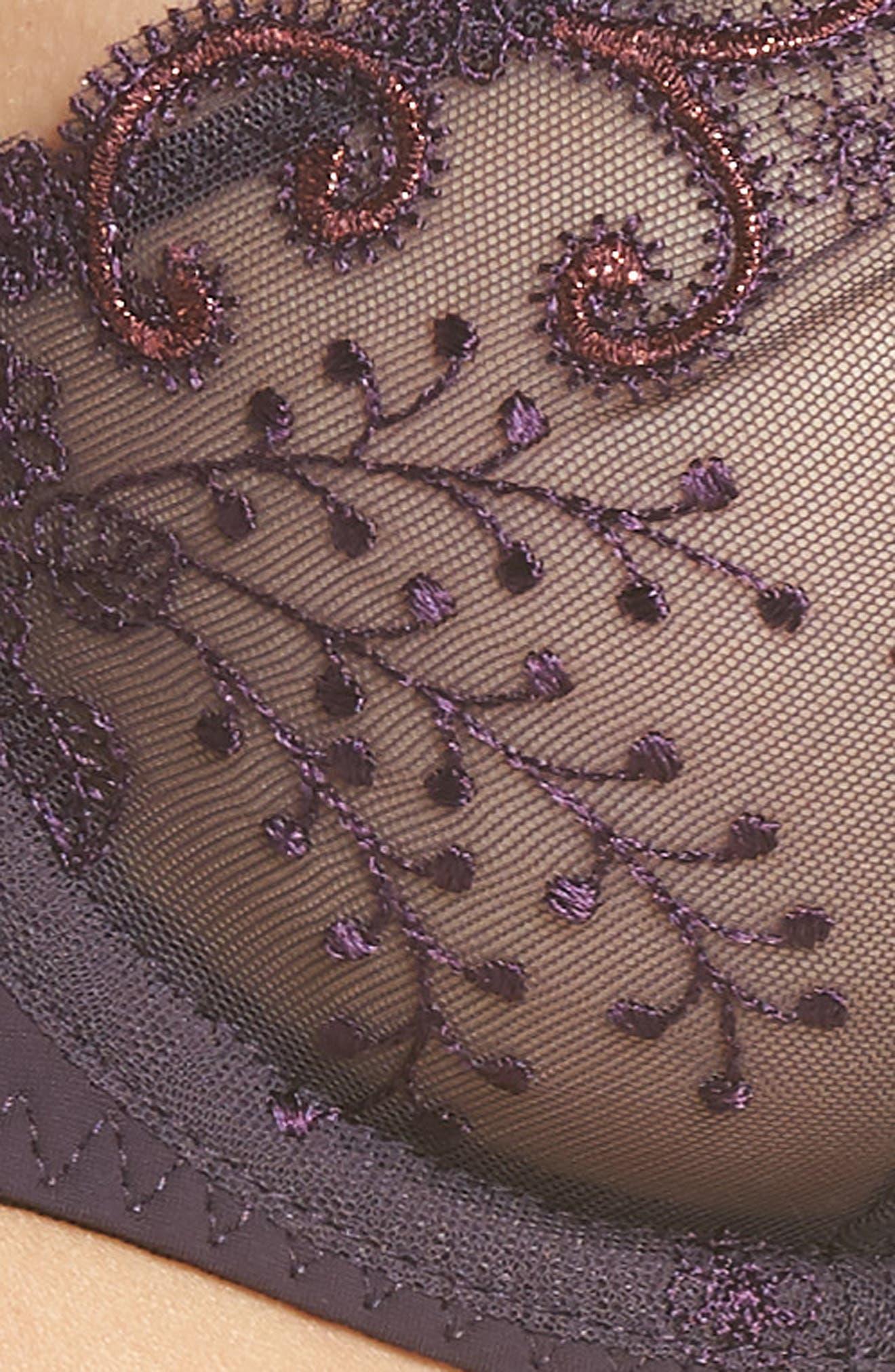 SIMONE PERELE,                             'Delice' Underwire Demi Bra,                             Alternate thumbnail 6, color,                             HYPNOTIC PURPLE