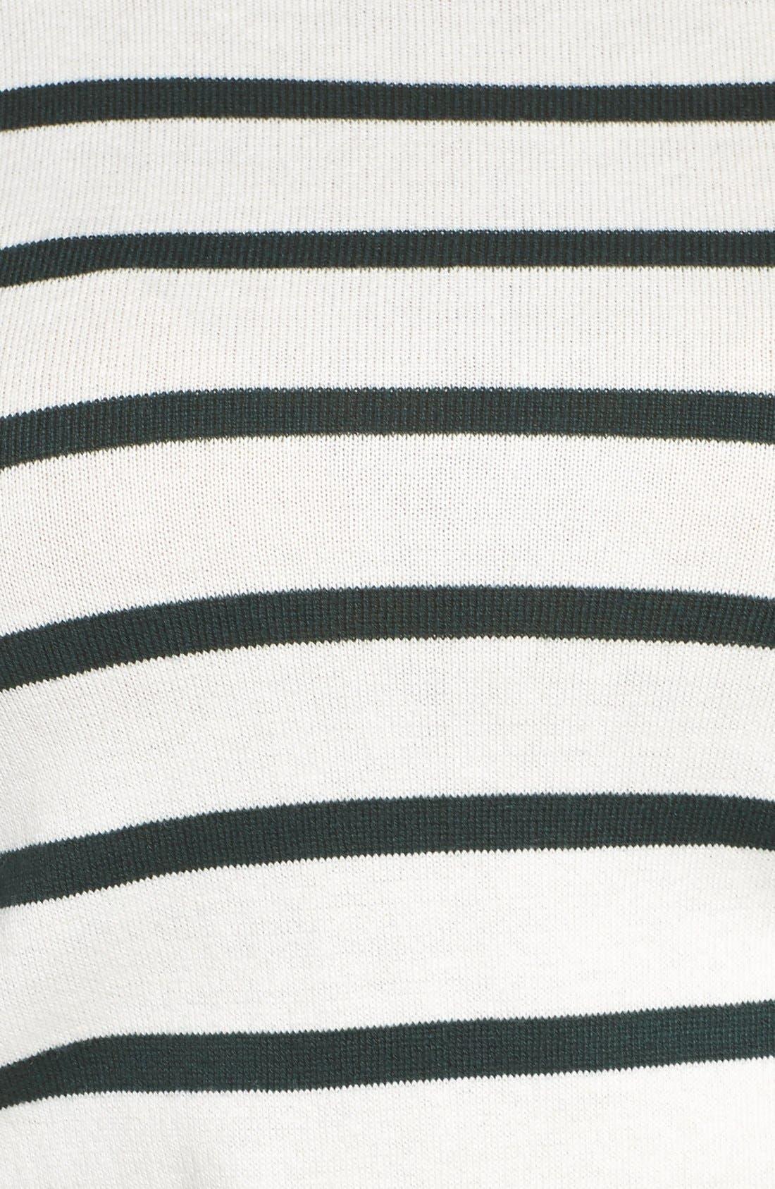 Stripe Mock Neck Sweater,                             Alternate thumbnail 5, color,                             317