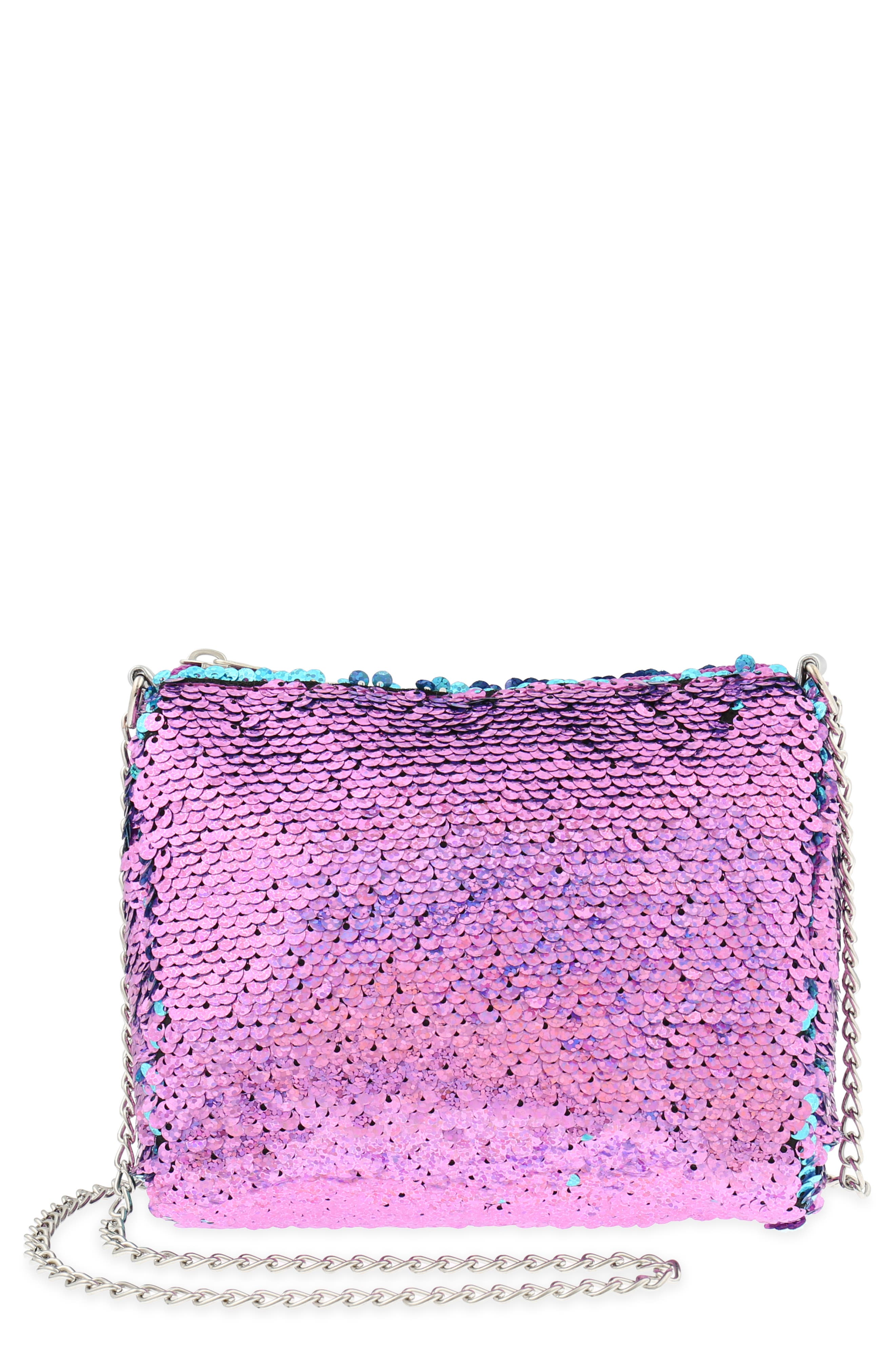 Flip Sequin Shoulder Bag,                             Main thumbnail 1, color,                             442