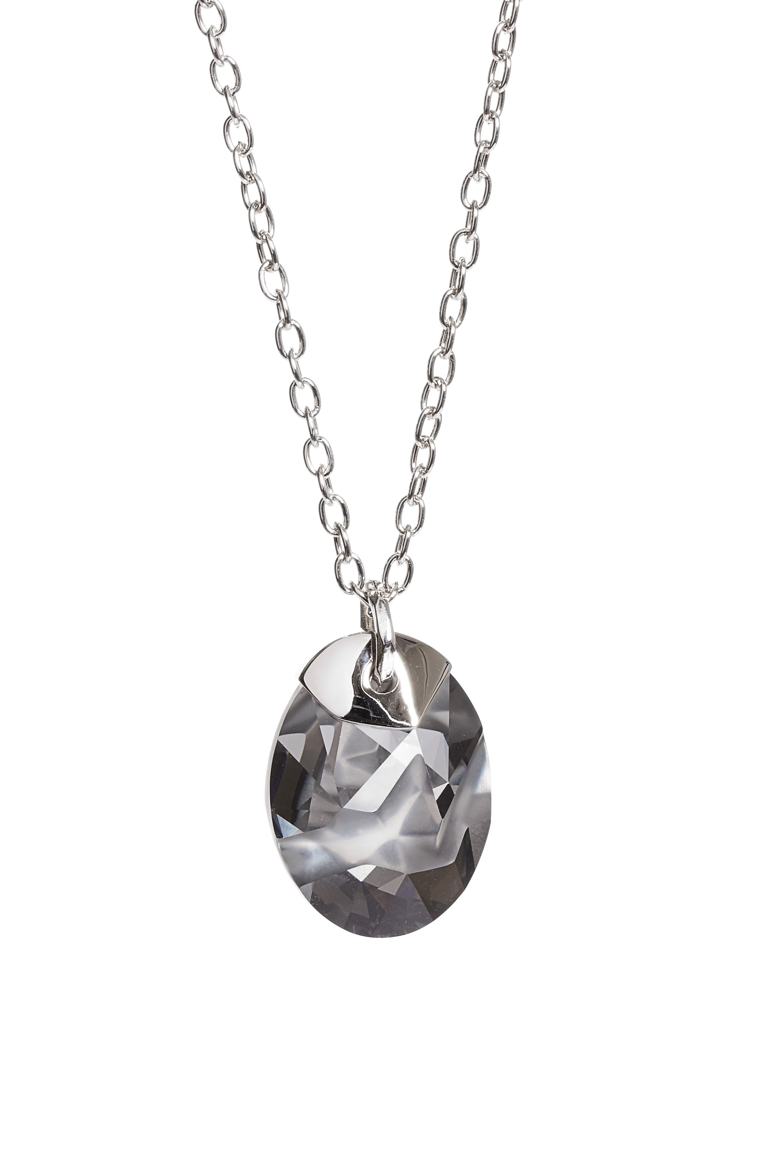 Swarovski Crystal Pendant Necklace,                             Main thumbnail 1, color,