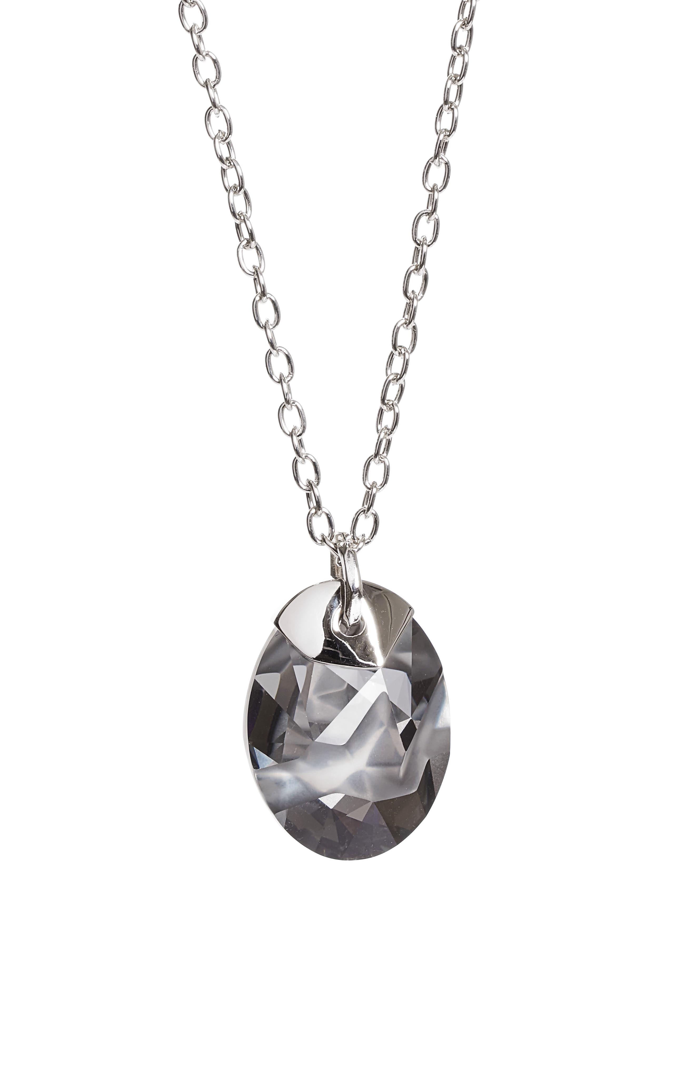 Swarovski Crystal Pendant Necklace,                             Main thumbnail 1, color,                             020