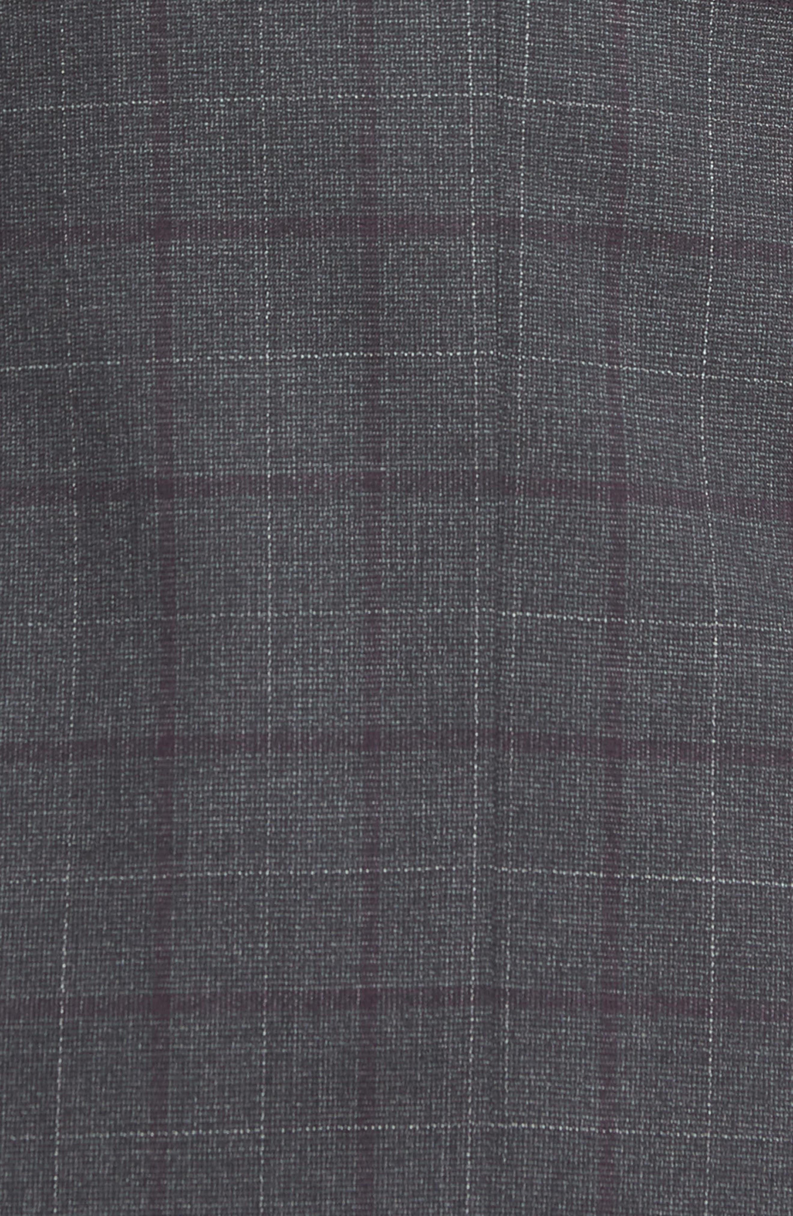 BOSS,                             Novan/Ben Trim Fit Plaid Wool Suit,                             Alternate thumbnail 7, color,                             506