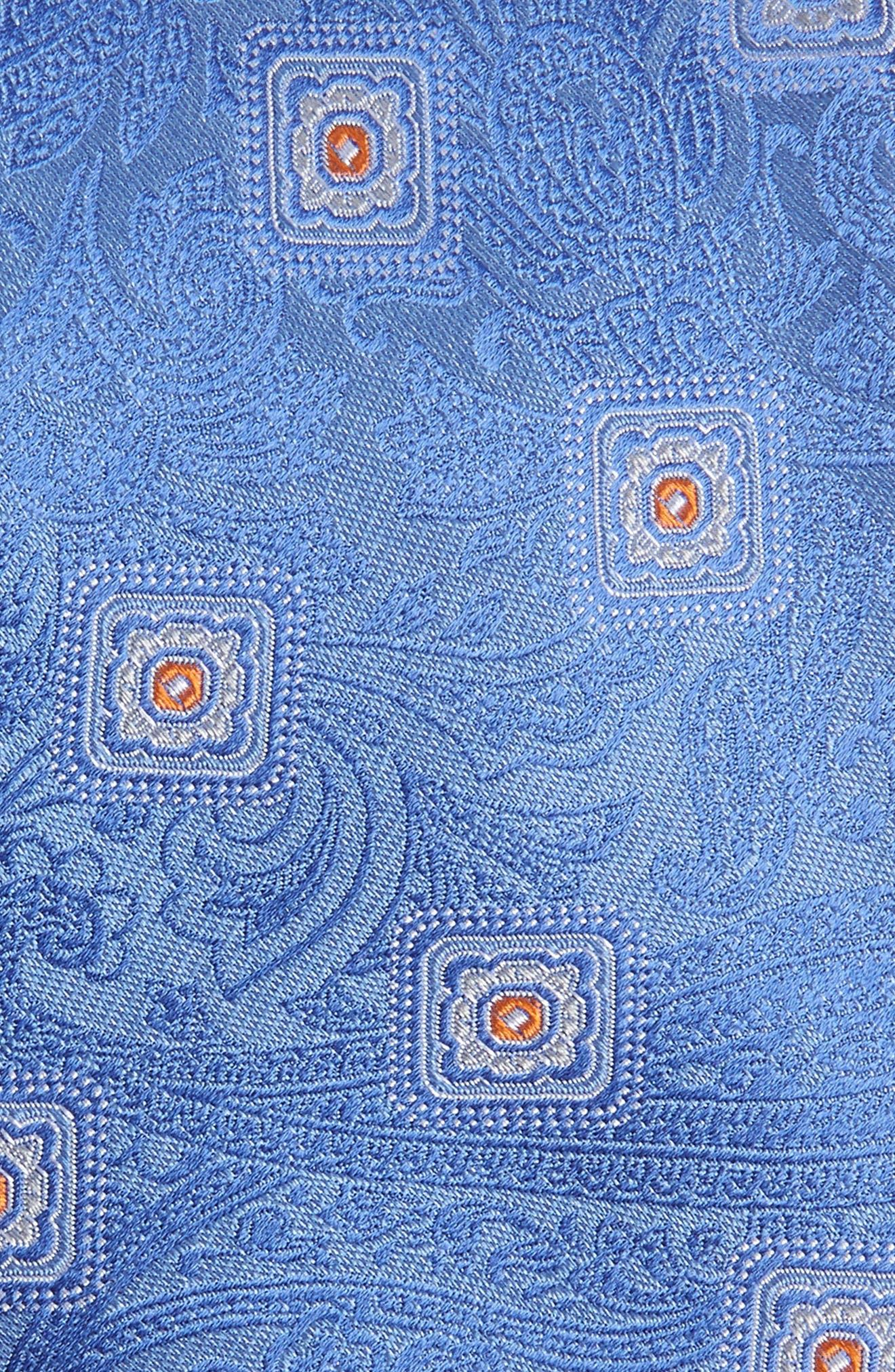 Baird Medallion Silk Tie,                             Alternate thumbnail 2, color,                             BLUE