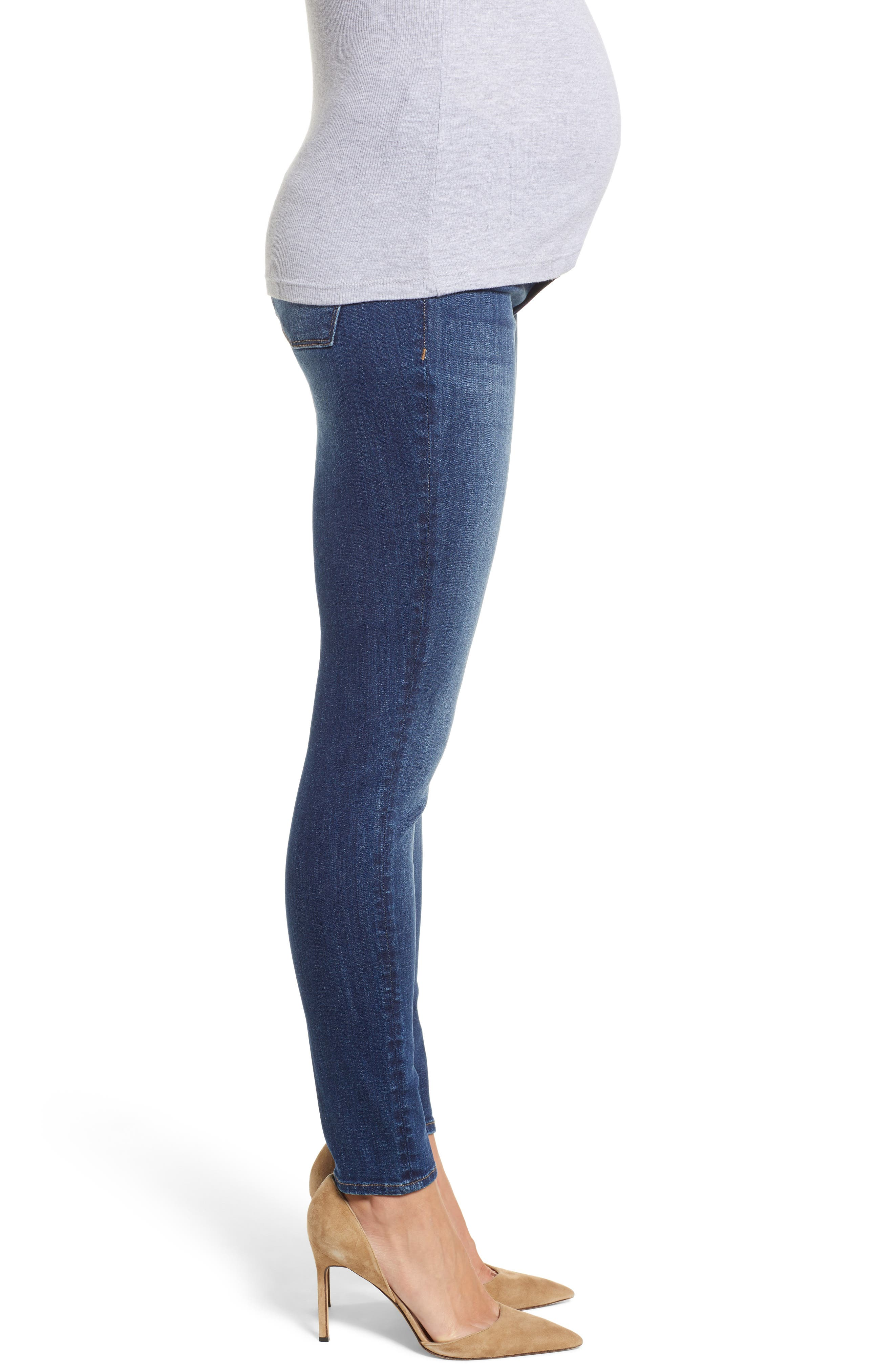 Florence Maternity Skinny Jeans,                             Alternate thumbnail 3, color,                             001