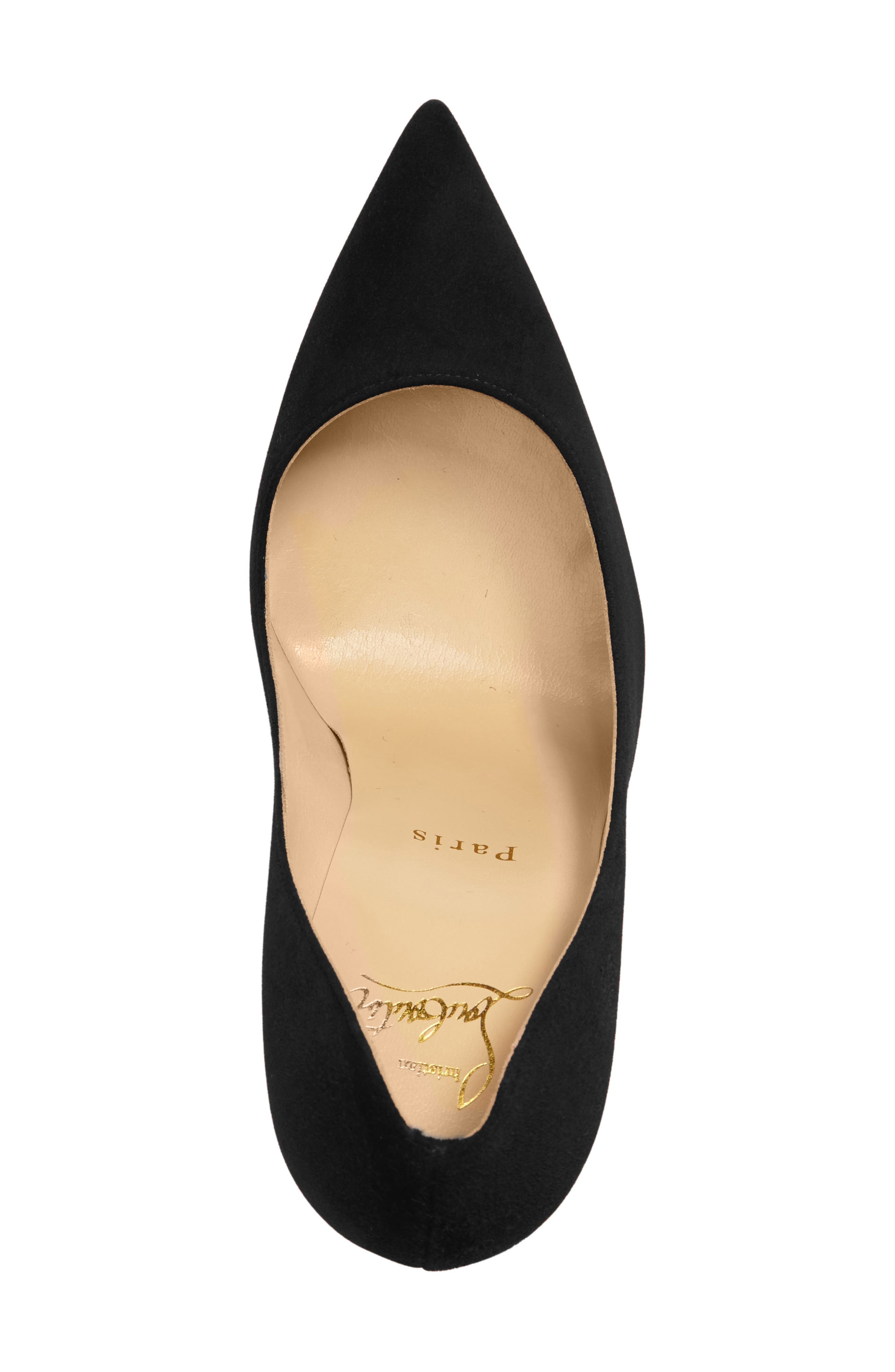 Decoltish Pointy Toe Pump,                             Alternate thumbnail 4, color,                             001