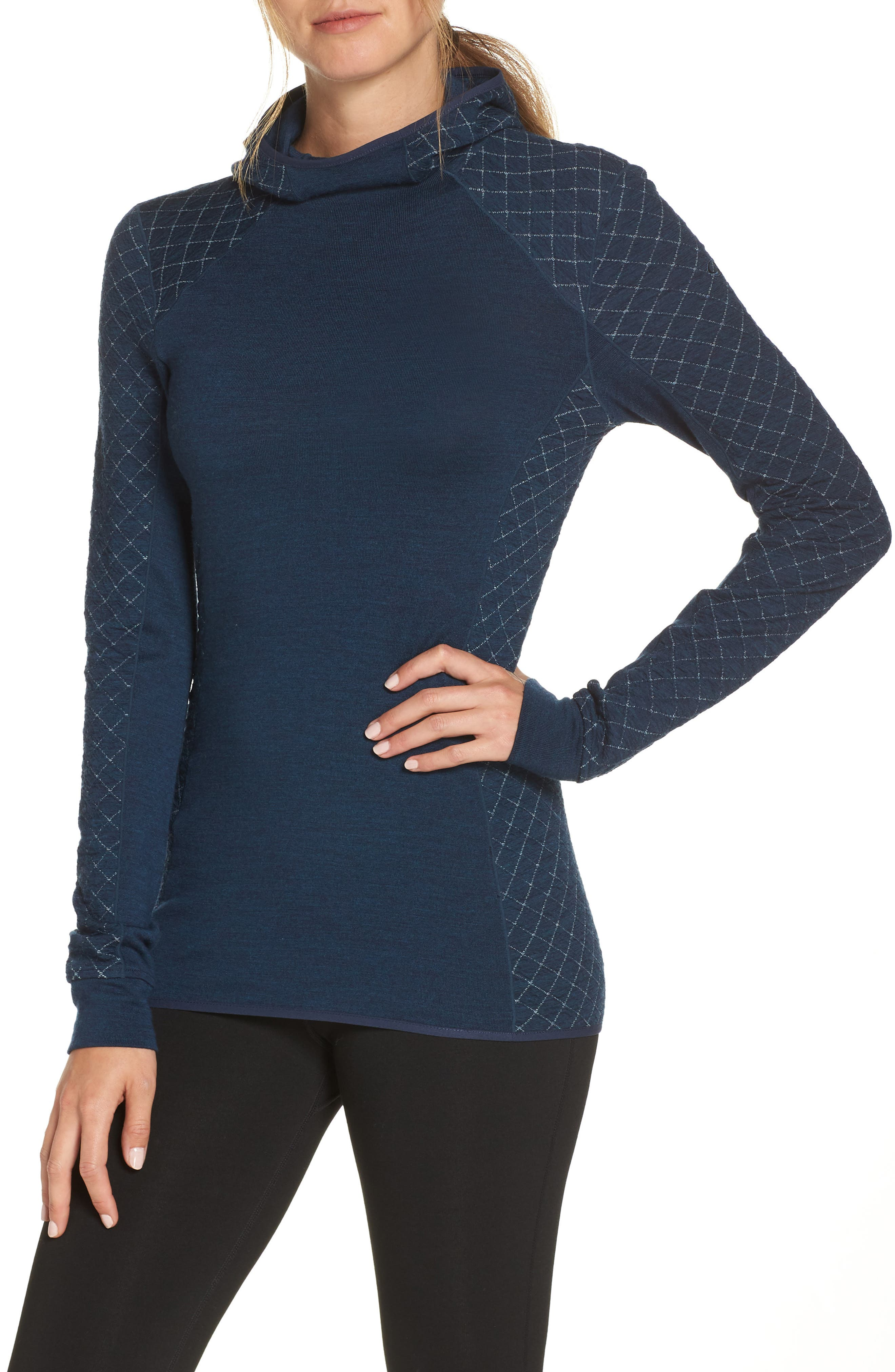 Affinity Thermo Hooded Pullover,                             Main thumbnail 1, color,                             ECLIPSE HEATHER