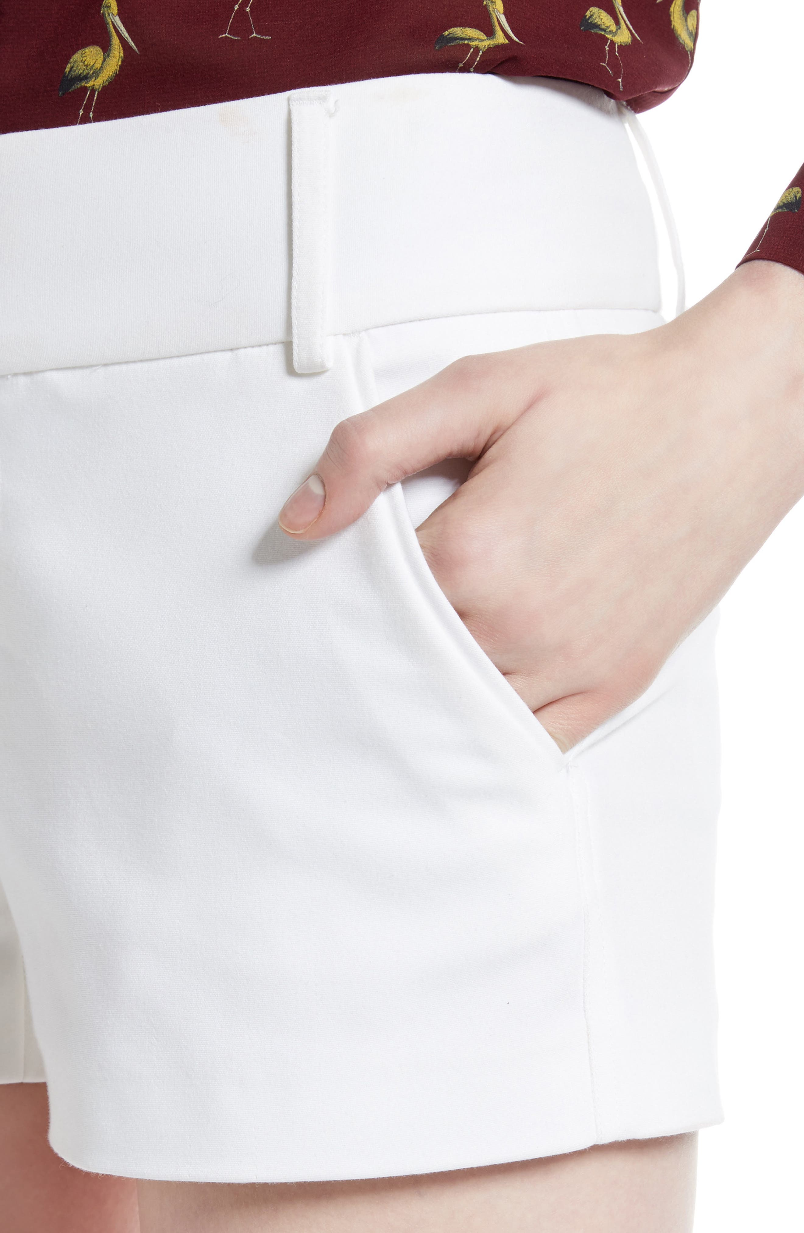 Cady Cotton Blend Shorts,                             Alternate thumbnail 8, color,