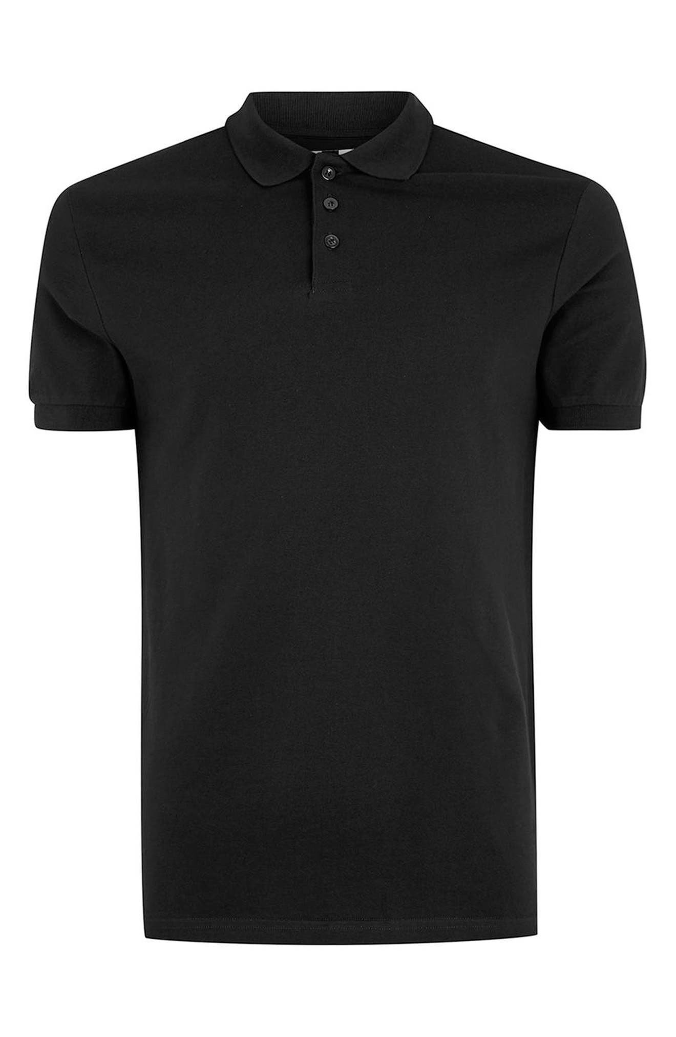 Muscle Fit Polo,                             Alternate thumbnail 4, color,                             001