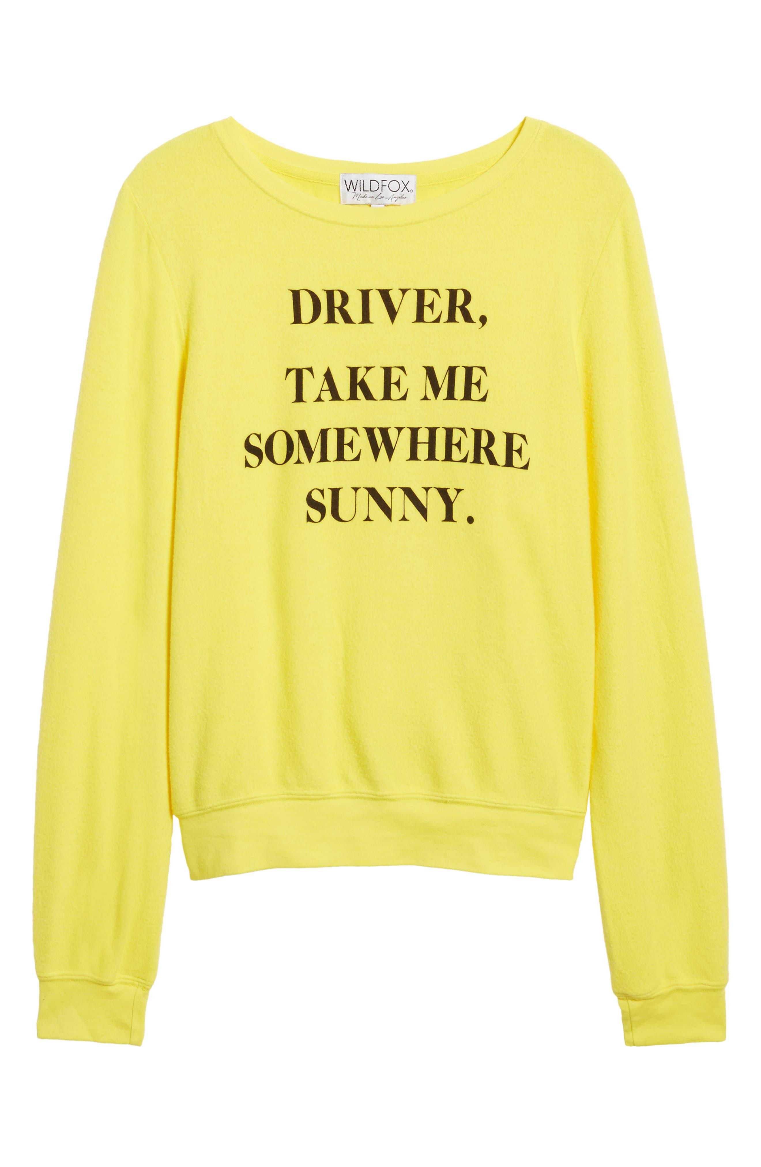 'Somewhere Sunny' Sweatshirt,                             Alternate thumbnail 7, color,                             730