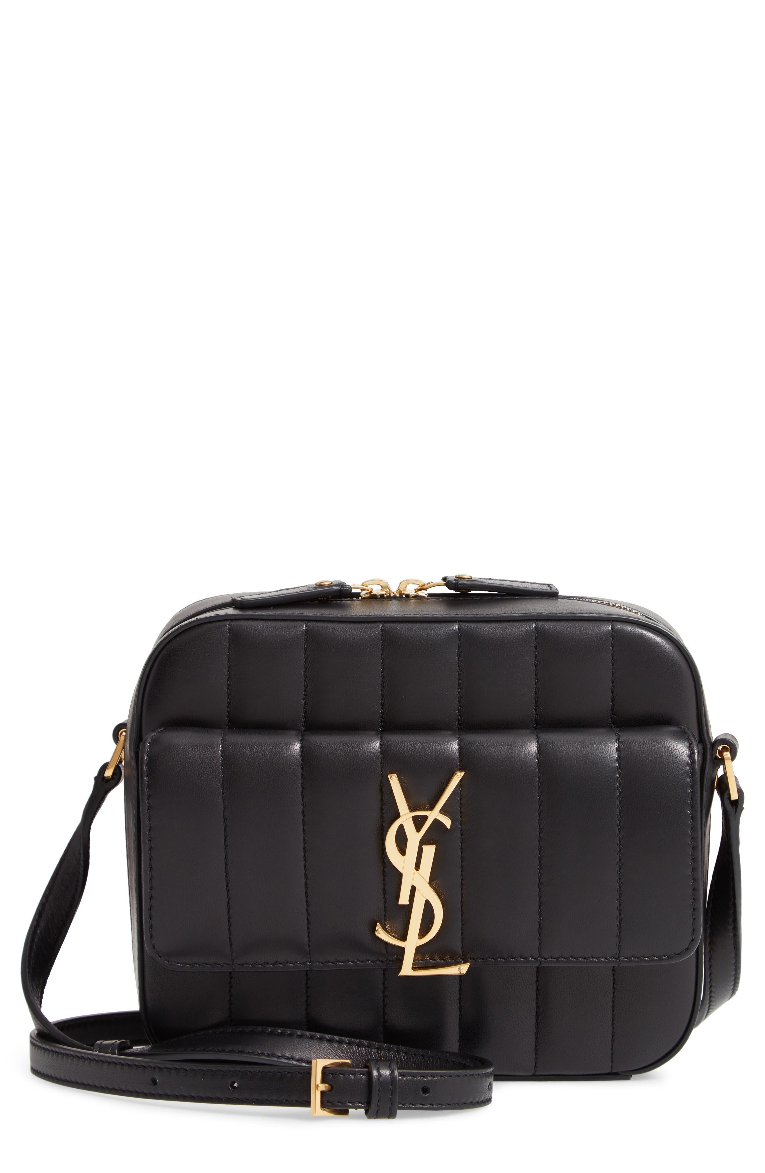 Vicky Leather Camera Bag,                         Main,                         color, NOIR