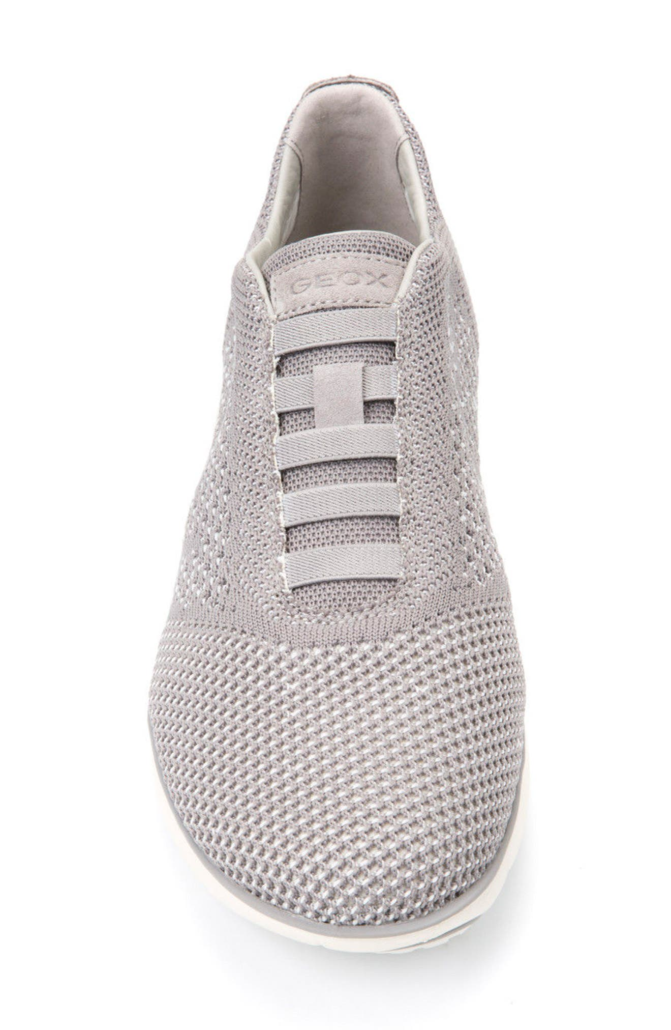Nebula 42 Laceless Knit Sneaker,                             Alternate thumbnail 4, color,                             STONE/ WHITE